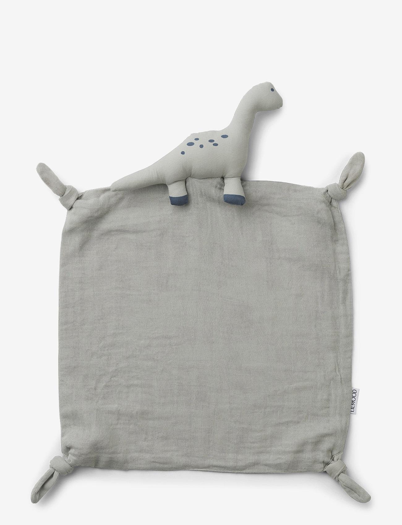 Liewood - Agnete cuddle cloth - cuddle blankets - dino dove blue - 0