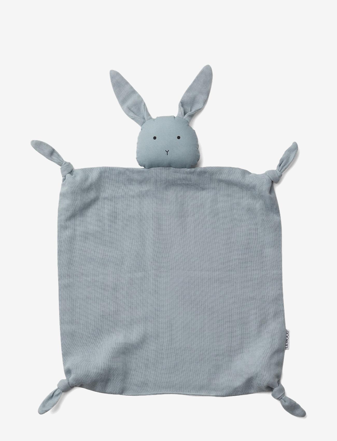 Liewood - Agnete cuddle cloth - cuddle blankets - rabbit sea blue - 0