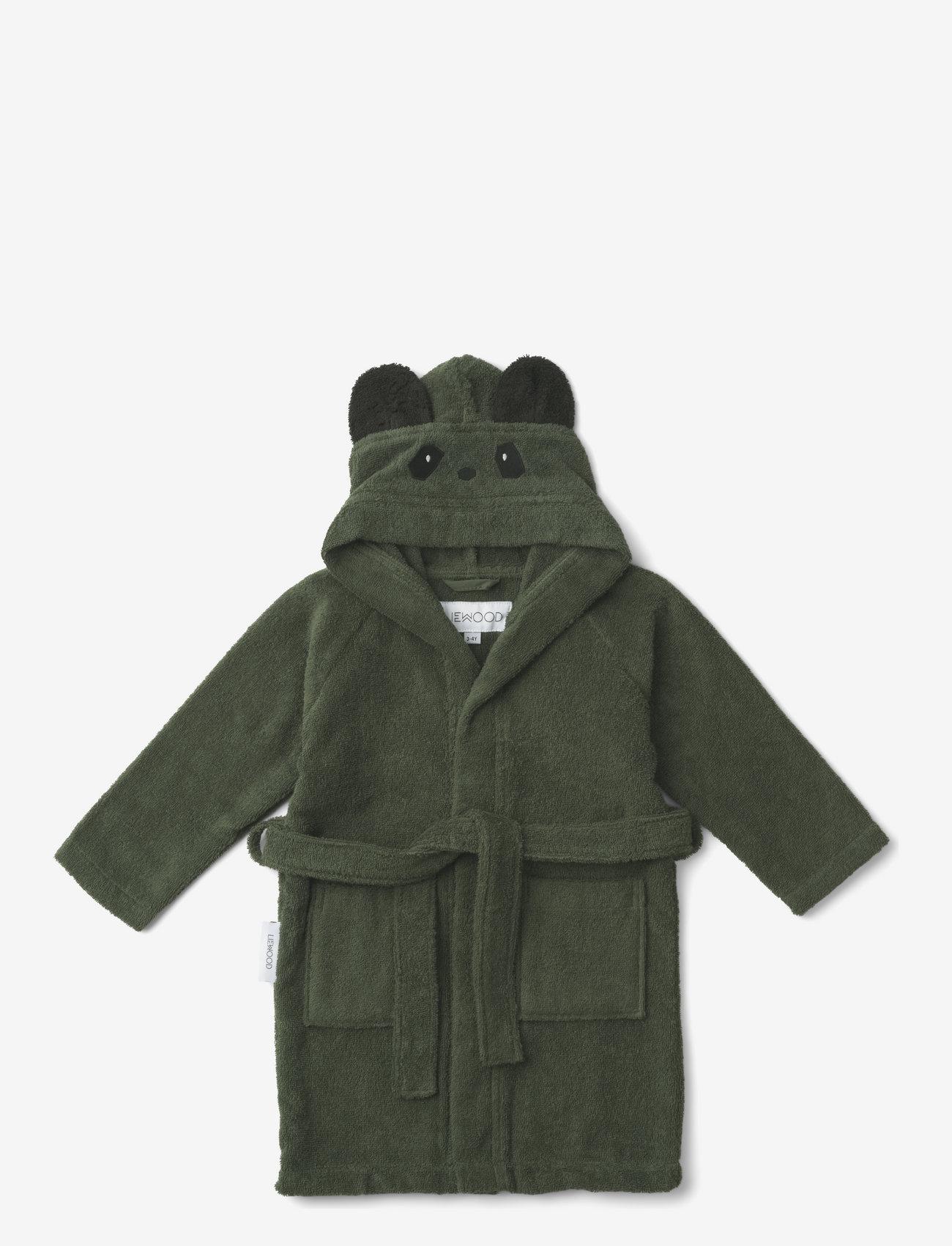 Liewood - Lily bathrobe - szlafroki - panda hunter green - 0