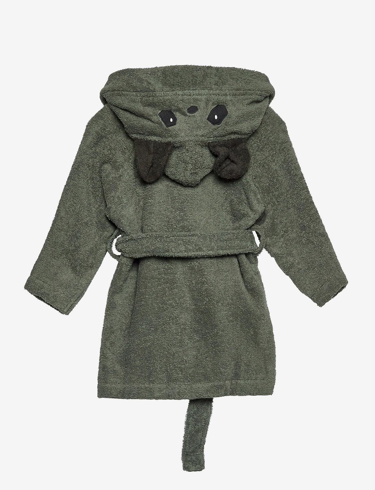 Liewood - Lily bathrobe - szlafroki - panda hunter green - 1