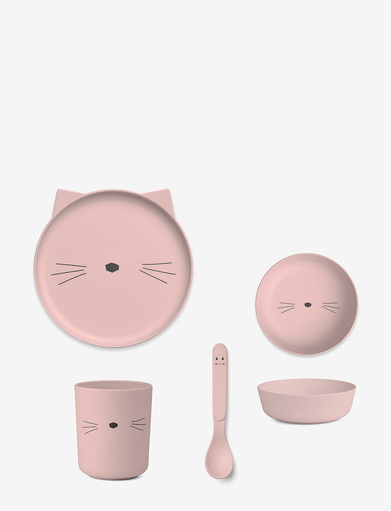 Liewood - Bamboo box set - zestawy obiadowe - cat rose - 0