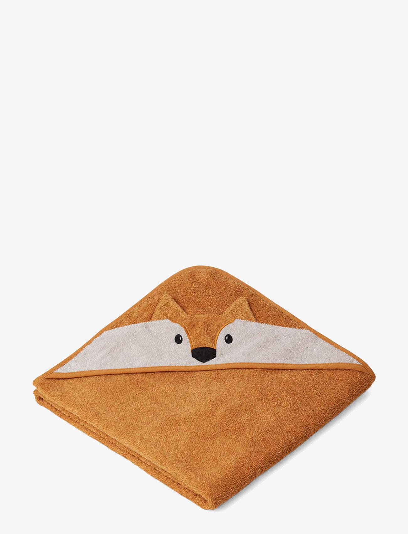 Liewood - Augusta hooded towel - ręczniki i szmatki - fox mustard - 0