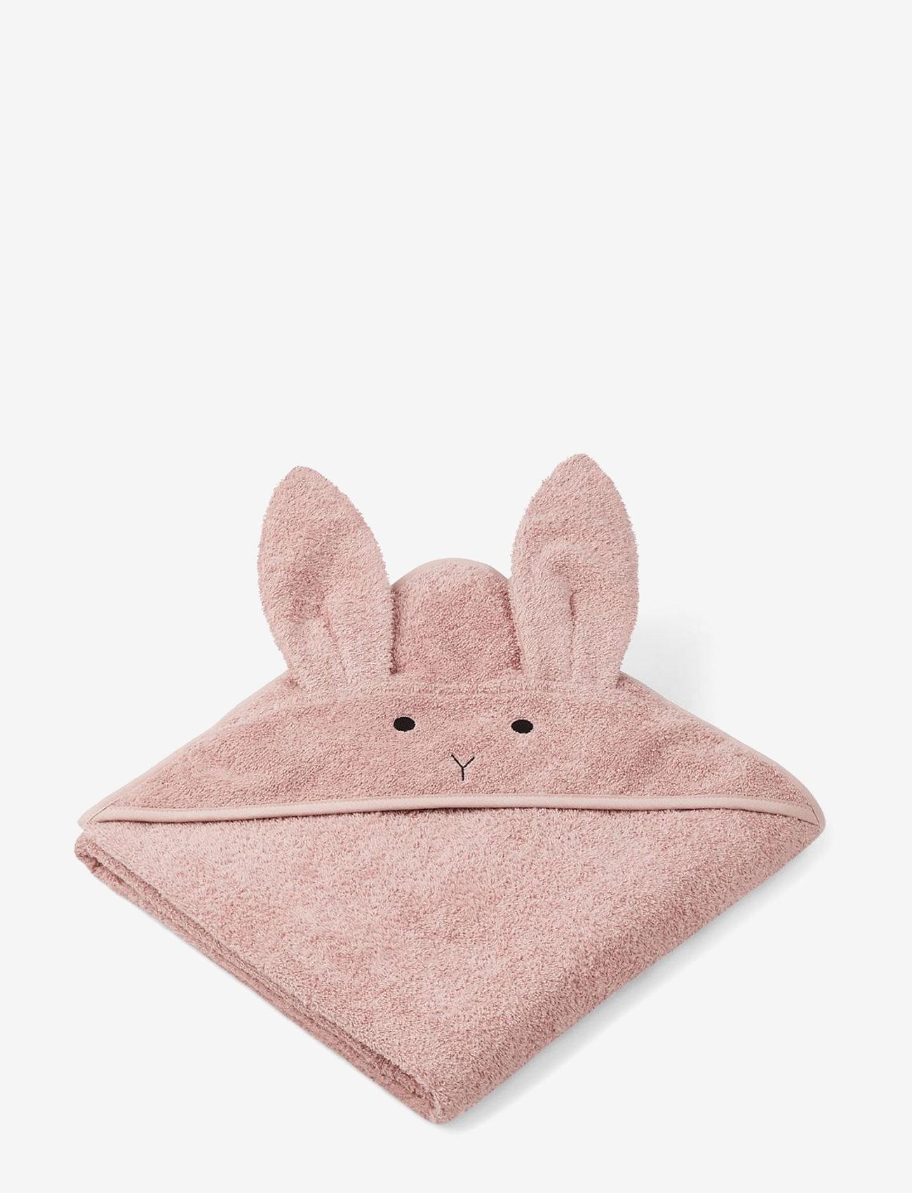 Liewood - Augusta hooded towel - akcesoria - rabbit rose - 0