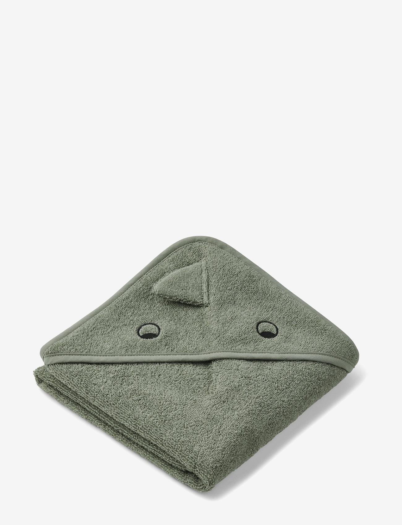 Liewood - Albert Hooded Towel - ręczniki i szmatki - dino faune green - 0