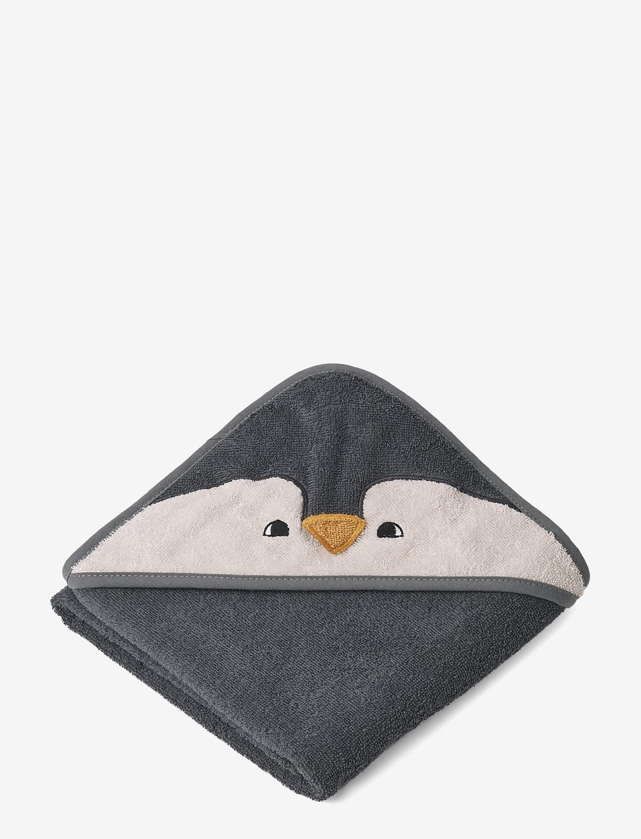 Liewood - Albert Hooded Towel - ręczniki i szmatki - penguin stone grey - 0