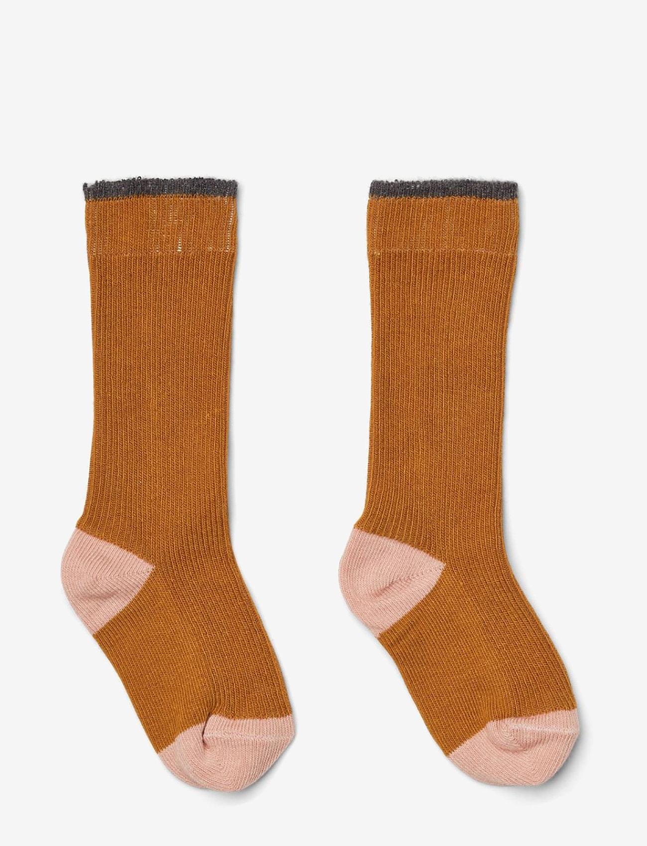 Liewood - Mia knee socks 2-pack - skarpetki - mustard - 0