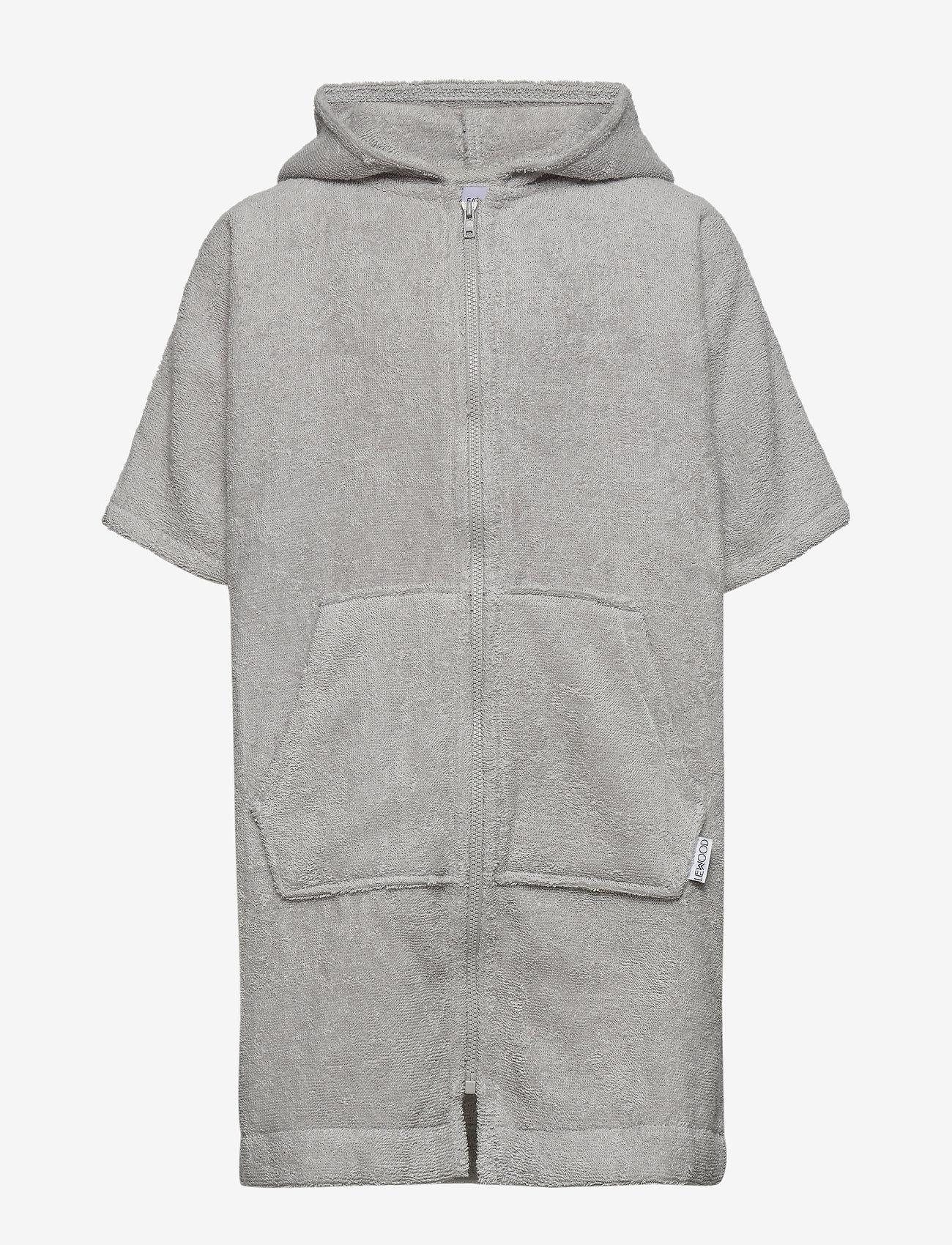 Liewood - Lela cape - bathrobes - rabbit dumbo grey - 0