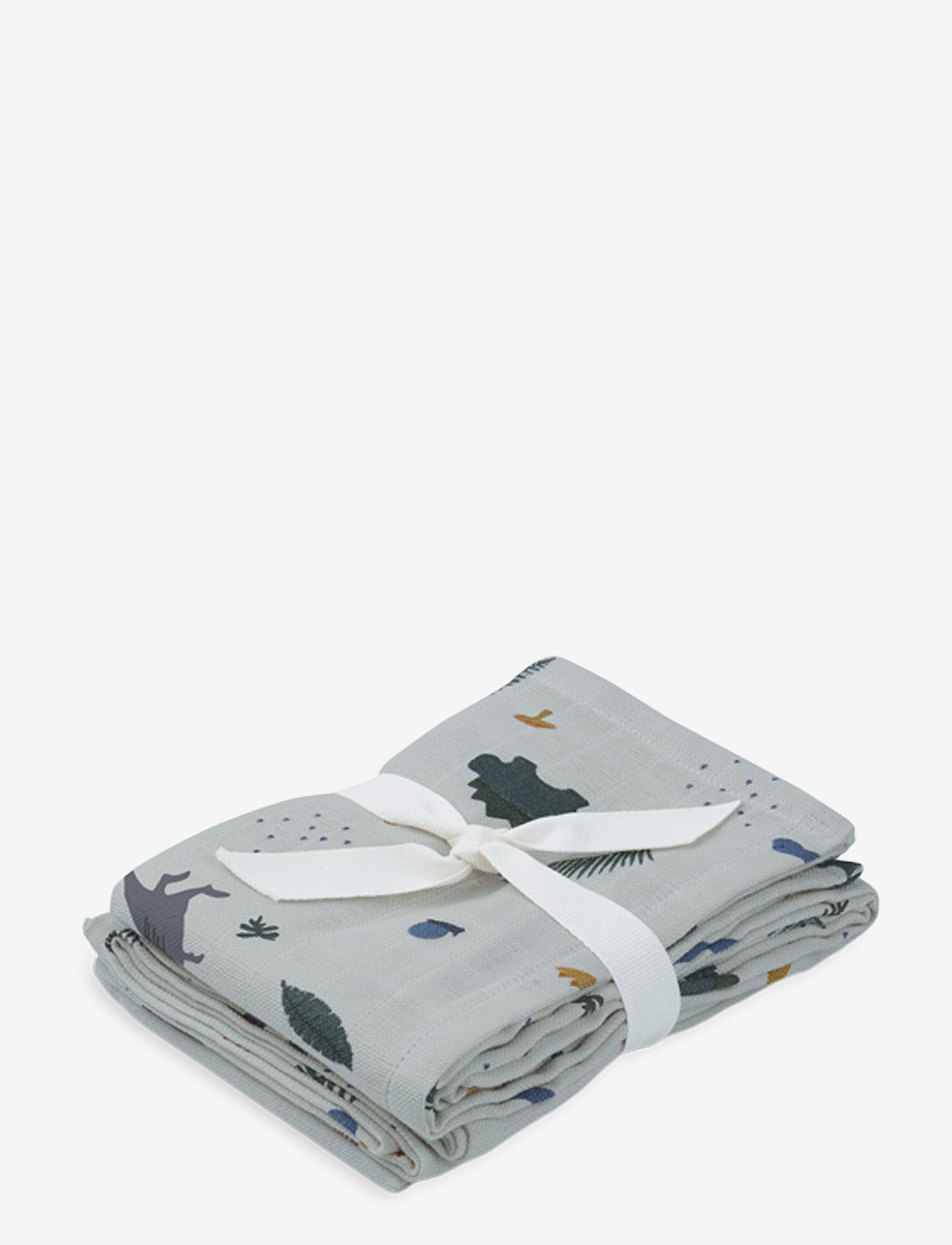 Liewood - Hannah muslin cloth print 2 pack - pieluszki materiałowe - dino dove blue mix - 1