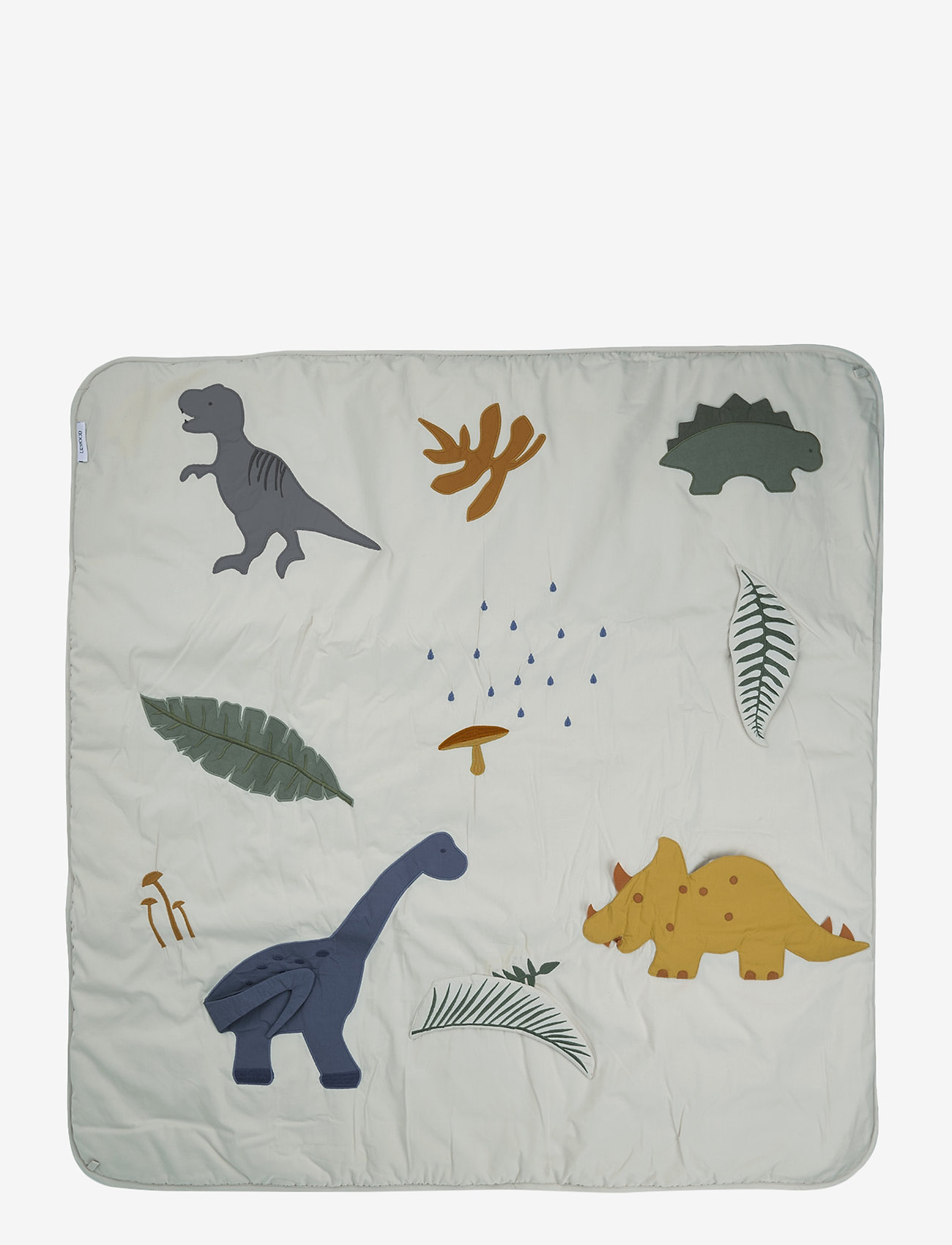 Liewood - Glenn activity blanket - koce - dino dove blue mix - 0