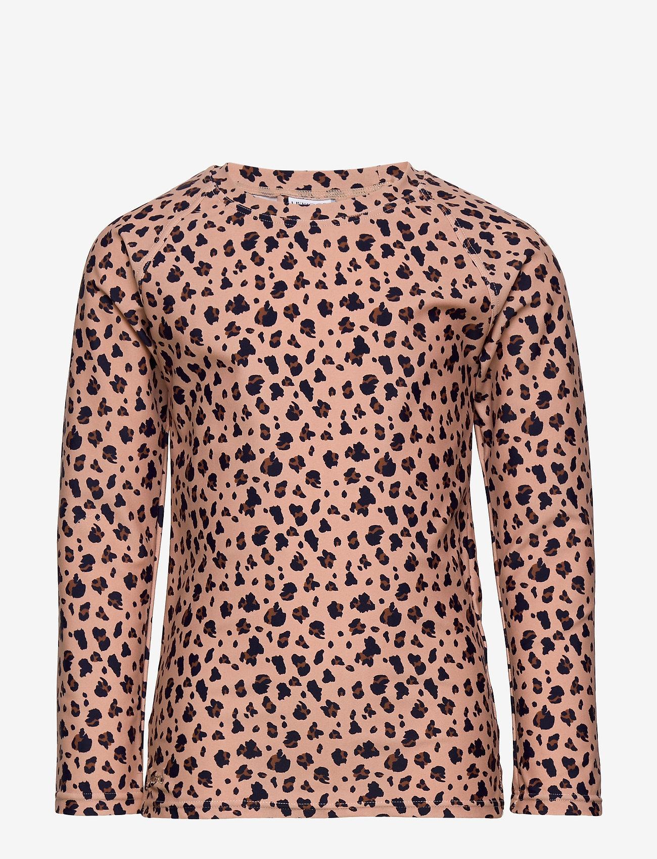 Liewood - Noah swim tee - koszulki - mini leo/coral blush - 0