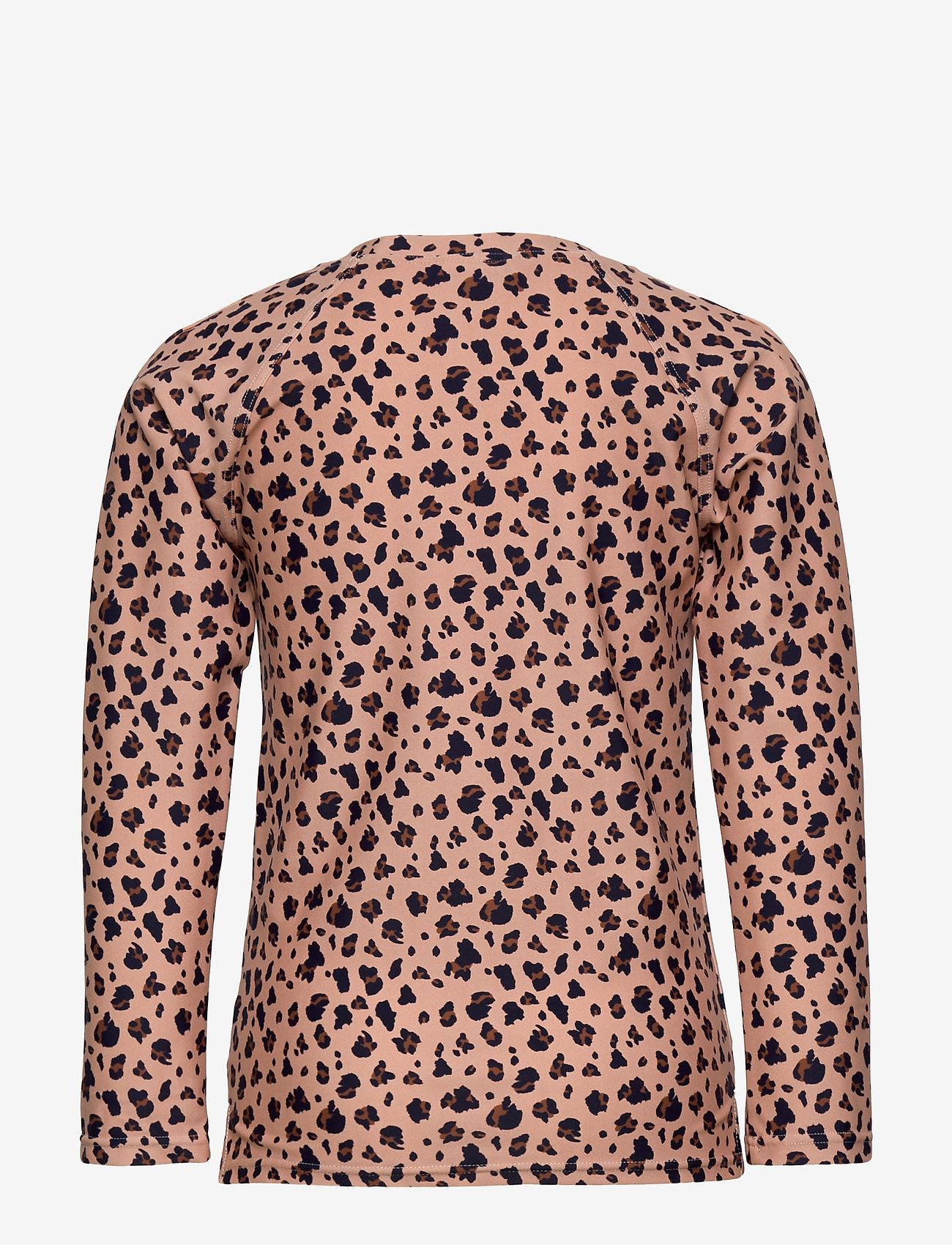 Liewood - Noah swim tee - koszulki - mini leo/coral blush - 1