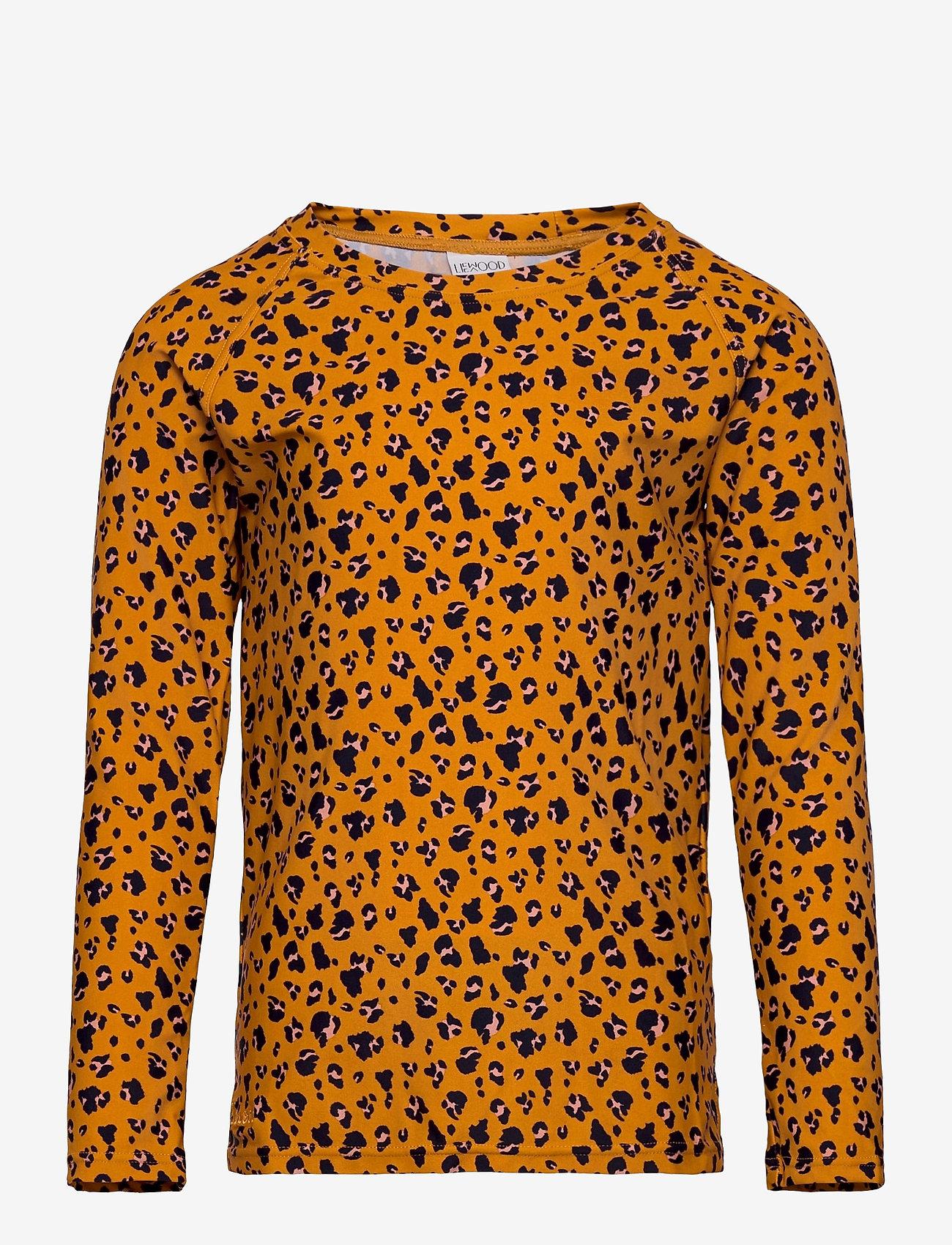 Liewood - Noah swim tee - koszulki - mini leo/mustard - 0