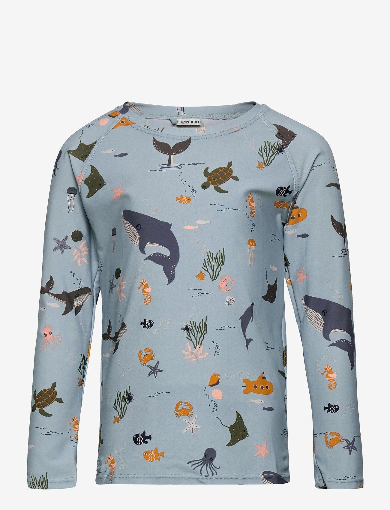 Liewood - Noah swim tee - koszulki - sea creature mix - 0