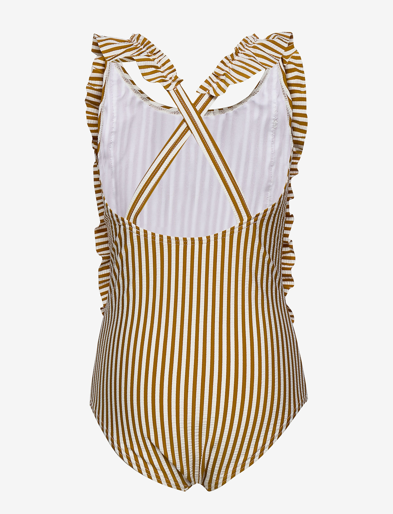 Liewood - Moa swimsuit seersucker - swimsuits - y/d stripe - 1