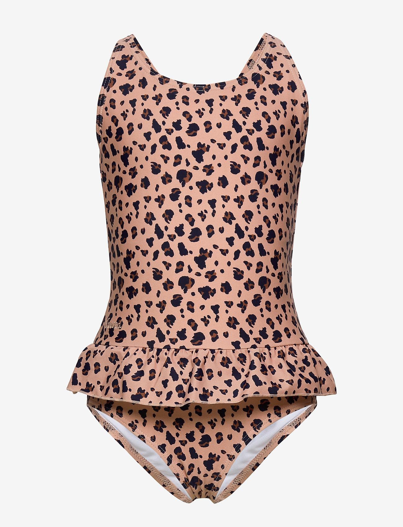 Liewood - Amara swimsuit - jednoczęściowe - mini leo/coral blush - 0