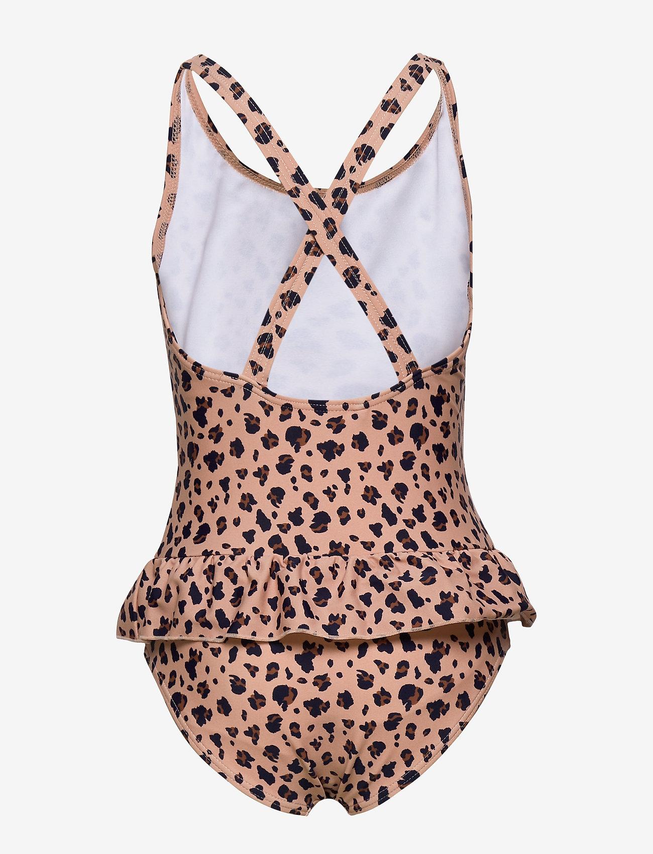 Liewood - Amara swimsuit - jednoczęściowe - mini leo/coral blush - 1