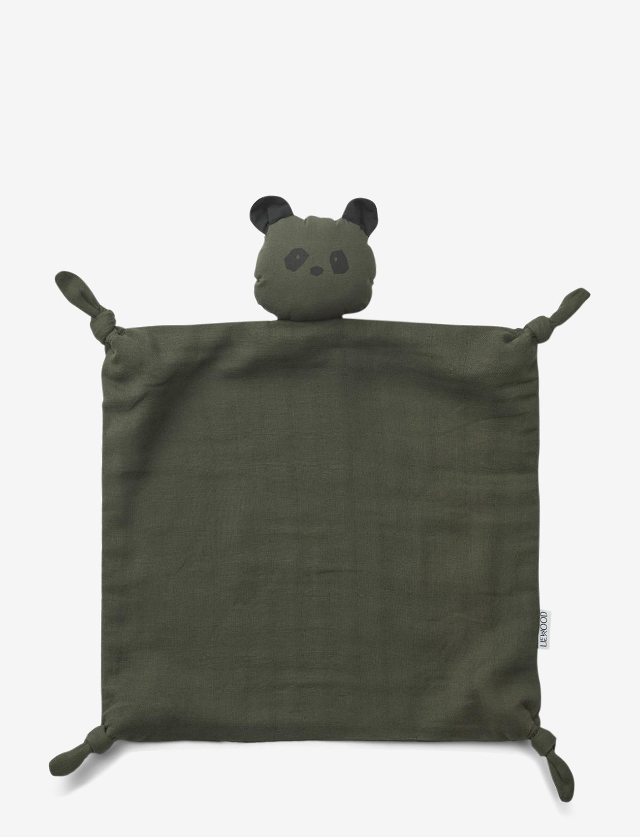 Liewood - Agnete cuddle cloth - cuddle blankets - panda hunter green - 0