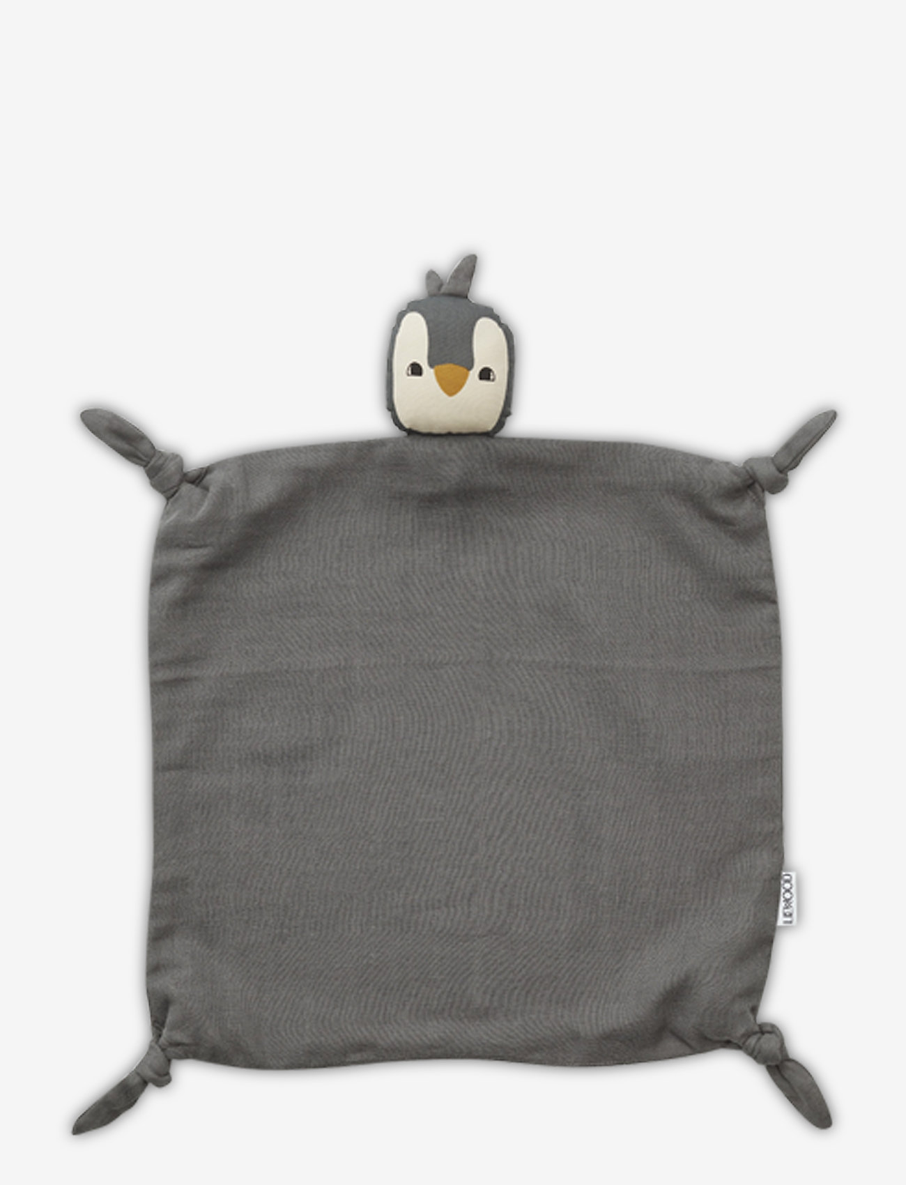 Liewood - Agnete cuddle cloth - cuddle blankets - penguin stone grey - 0