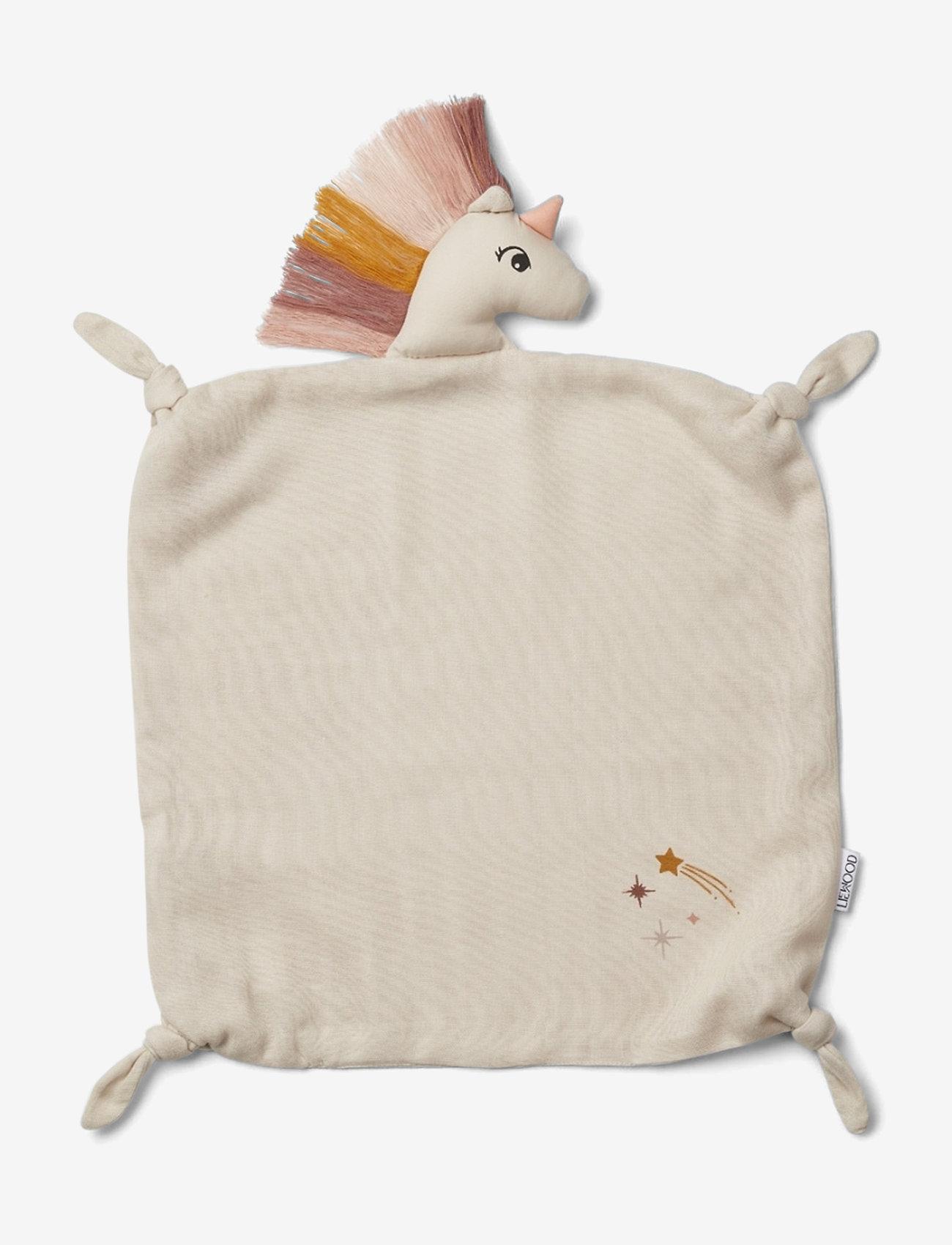 Liewood - Agnete cuddle cloth - cuddle blankets - unicorn sandy - 0