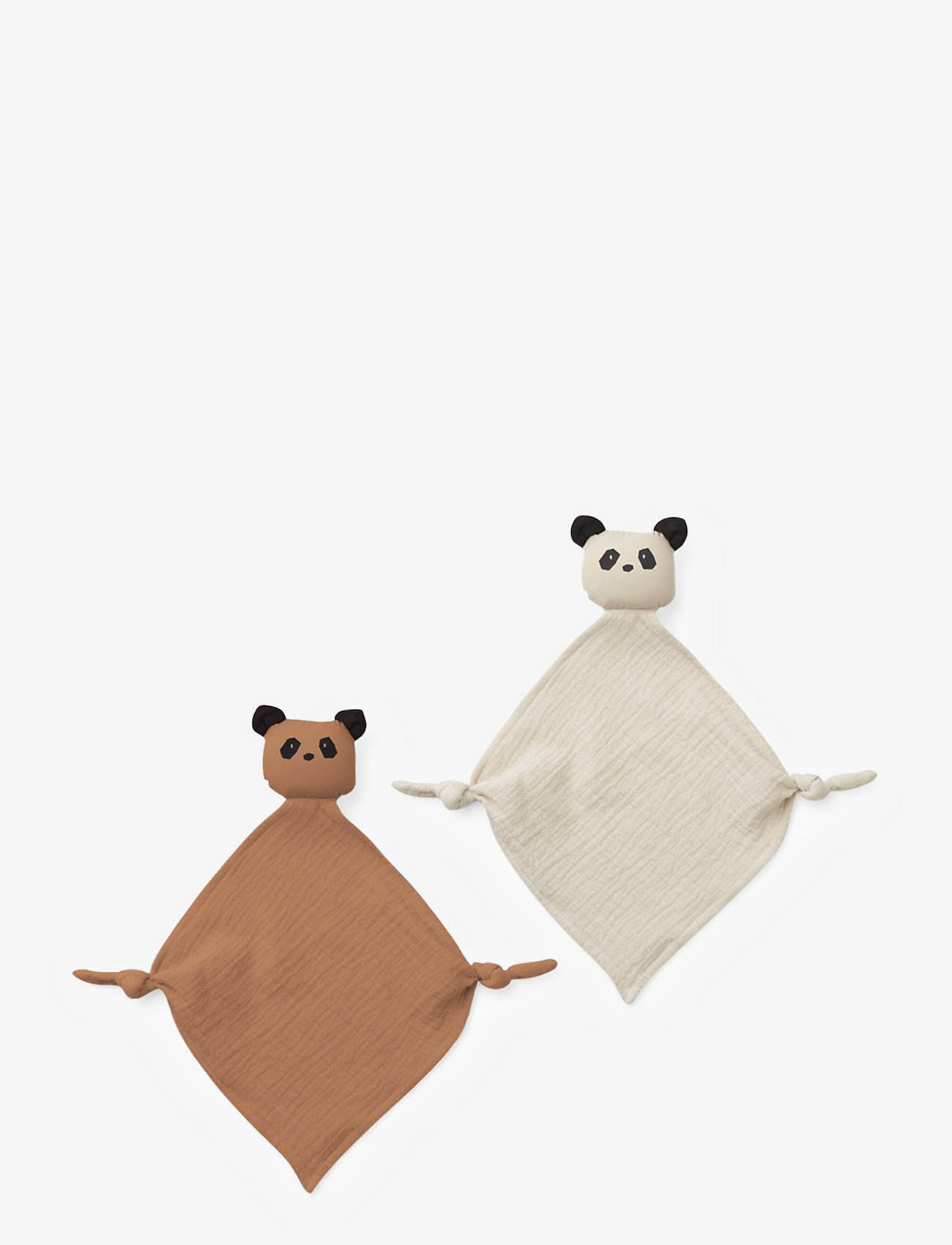 Liewood - Yoko mini cuddle cloth 2-pack - cuddle blankets - panda tuscany rose/sandy mix - 0