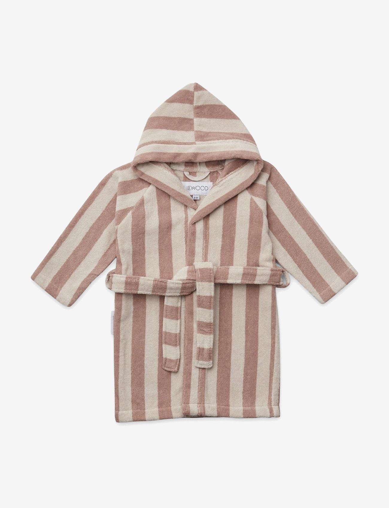 Liewood - Reggie bathrobe - bathrobes - y/d stripe - 0