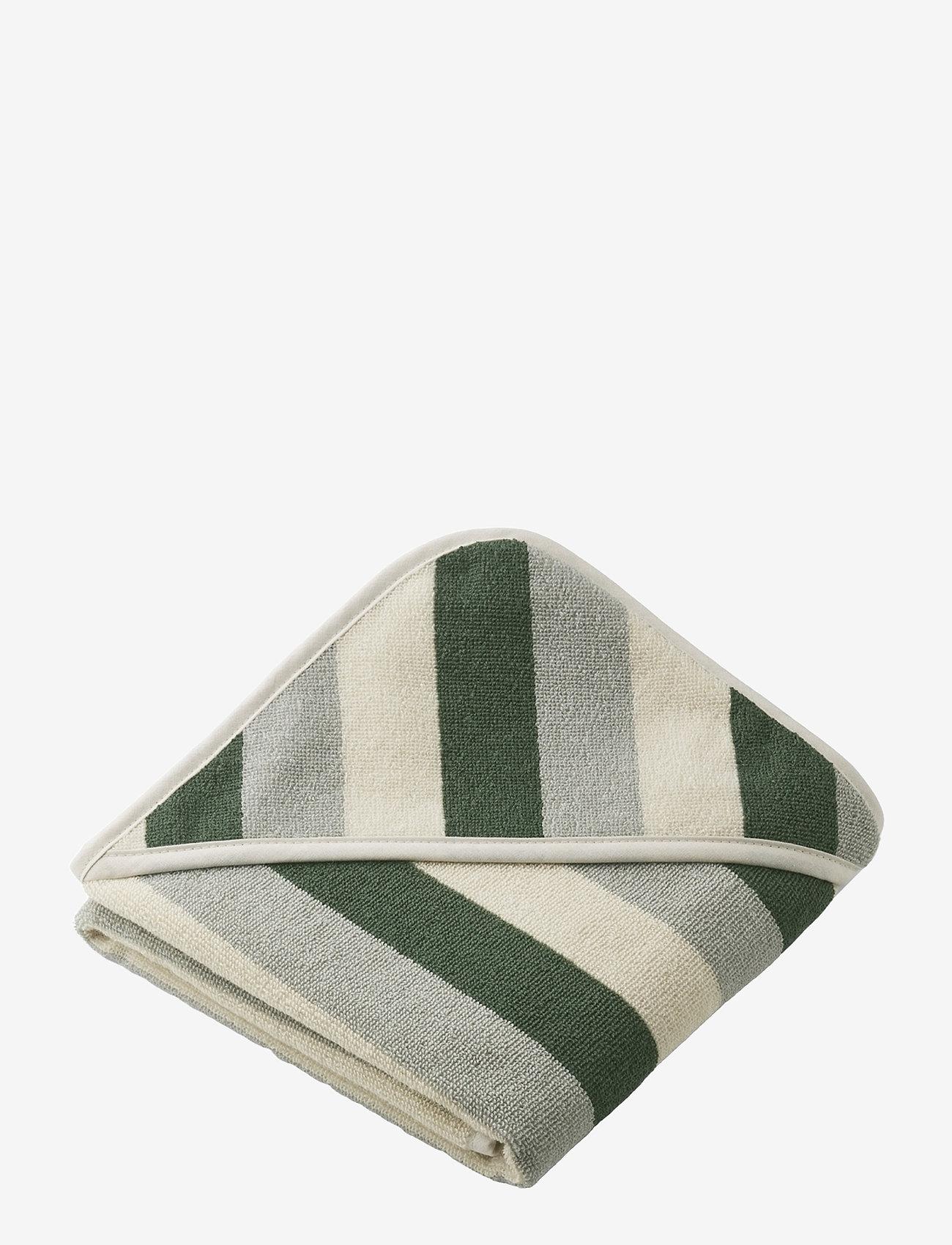 Liewood - Alba hooded baby towel - akcesoria - y/d stripe - 0
