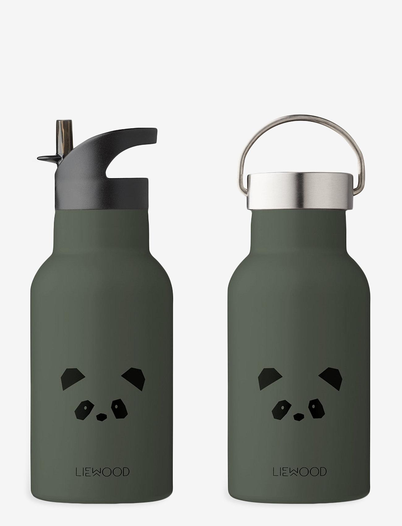 Liewood - Anker water bottle - vannflasker - panda hunter green - 0