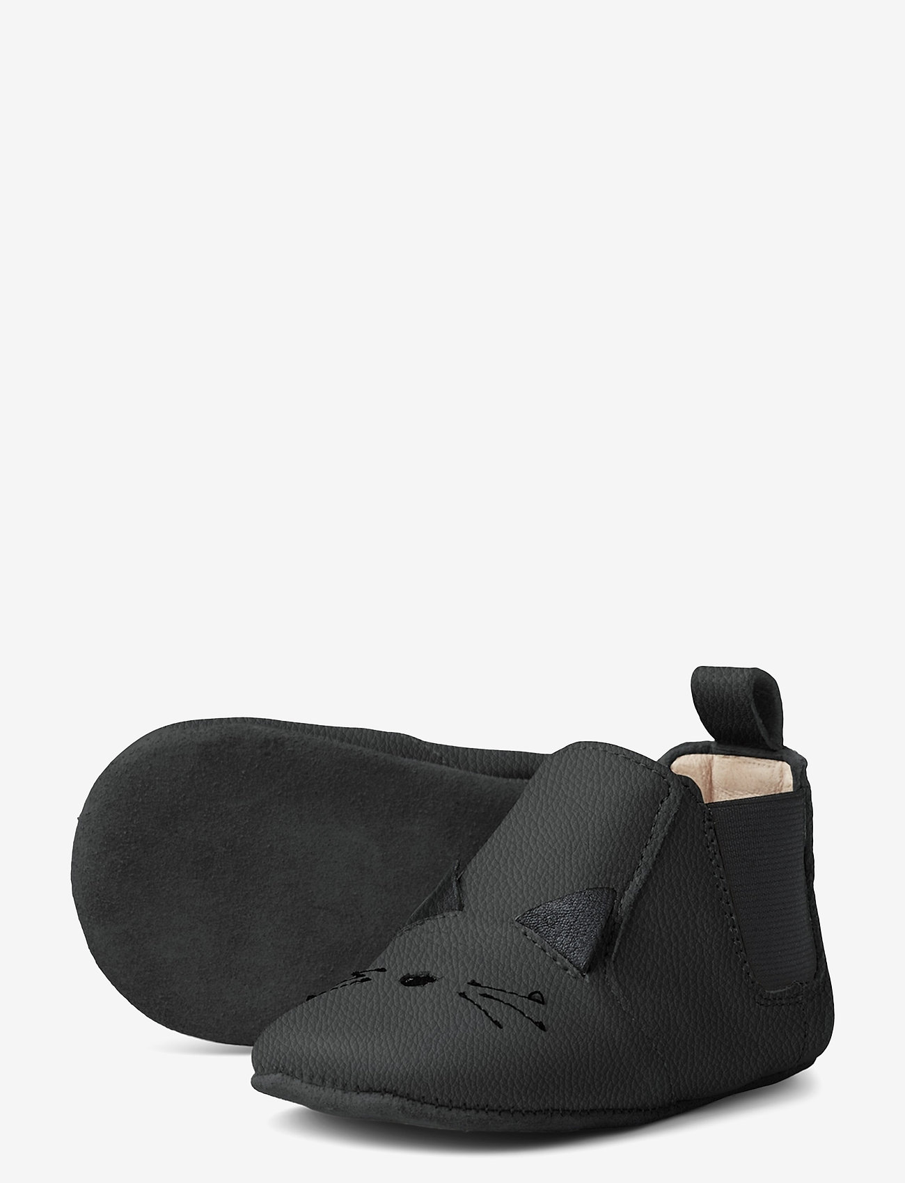Liewood - Edith leather slippers - hausschuhe - cat black - 1
