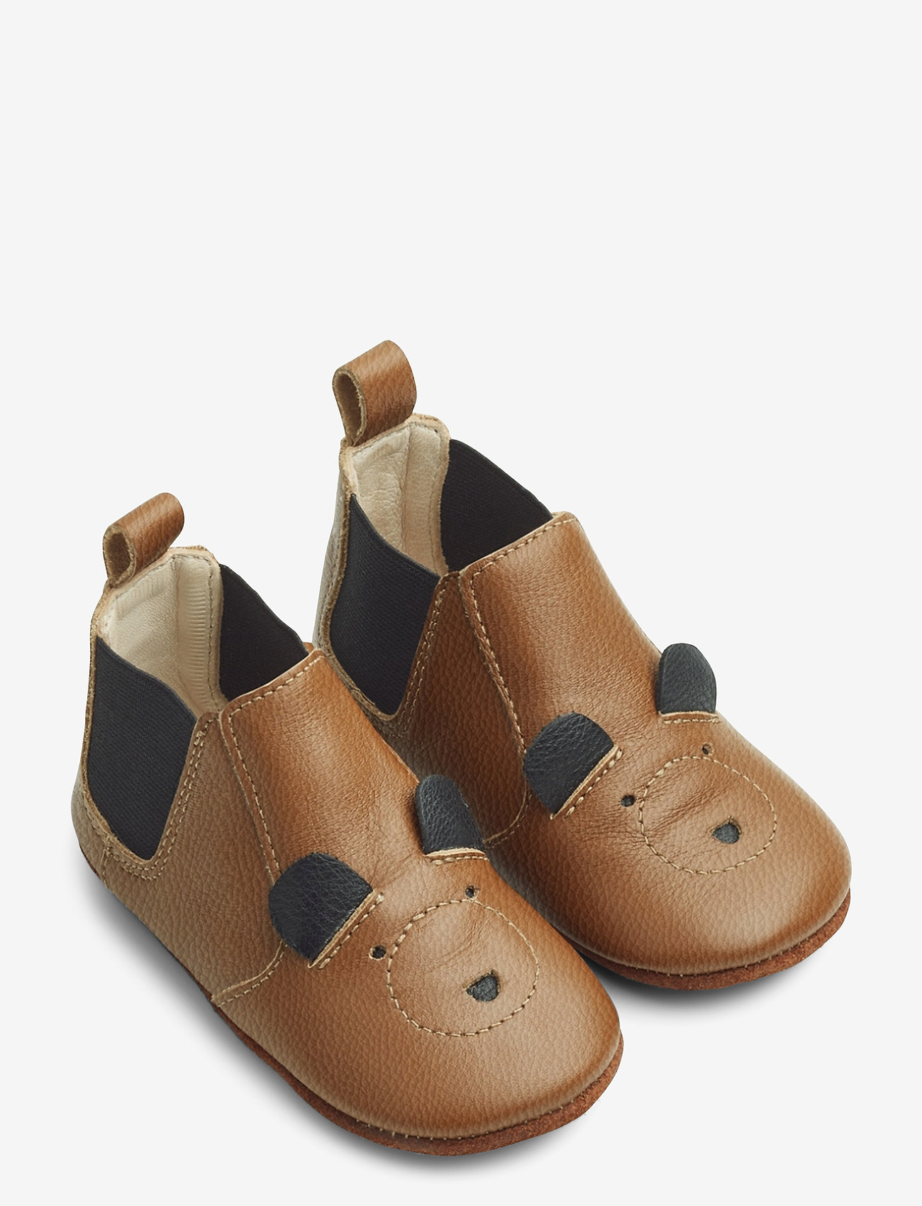 Liewood - Edith leather slippers - hausschuhe - mr bear mustard - 1