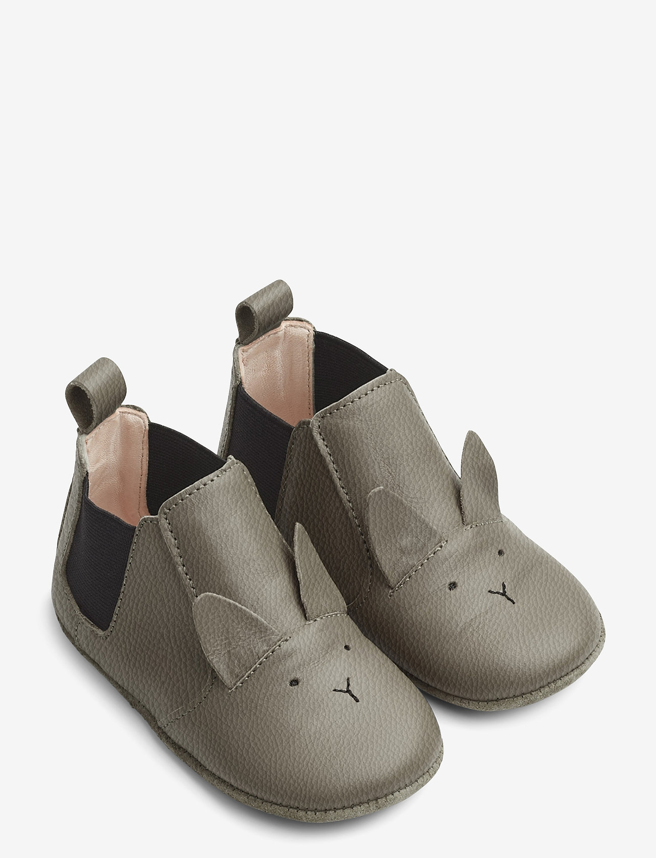Liewood - Edith leather slippers - domowe - rabbit grey - 0