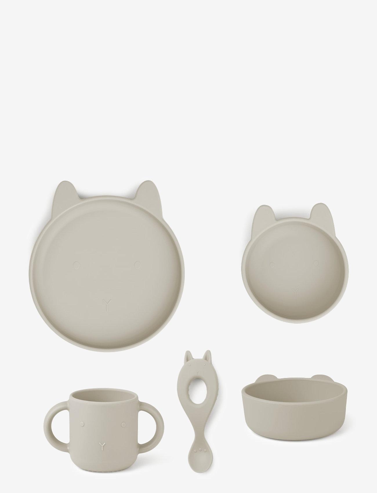 Liewood - Vivi silicone set - zestawy obiadowe - rabbit sandy - 0
