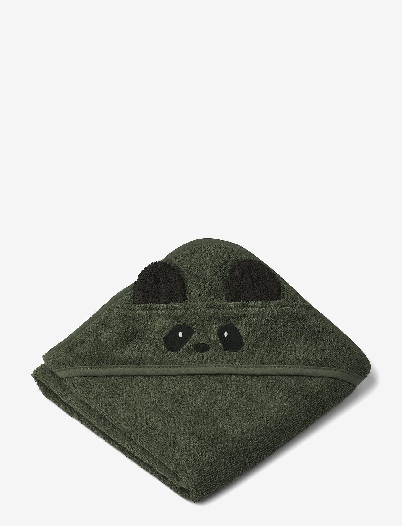 Liewood - Albert hooded towel - akcesoria - panda hunter green - 0