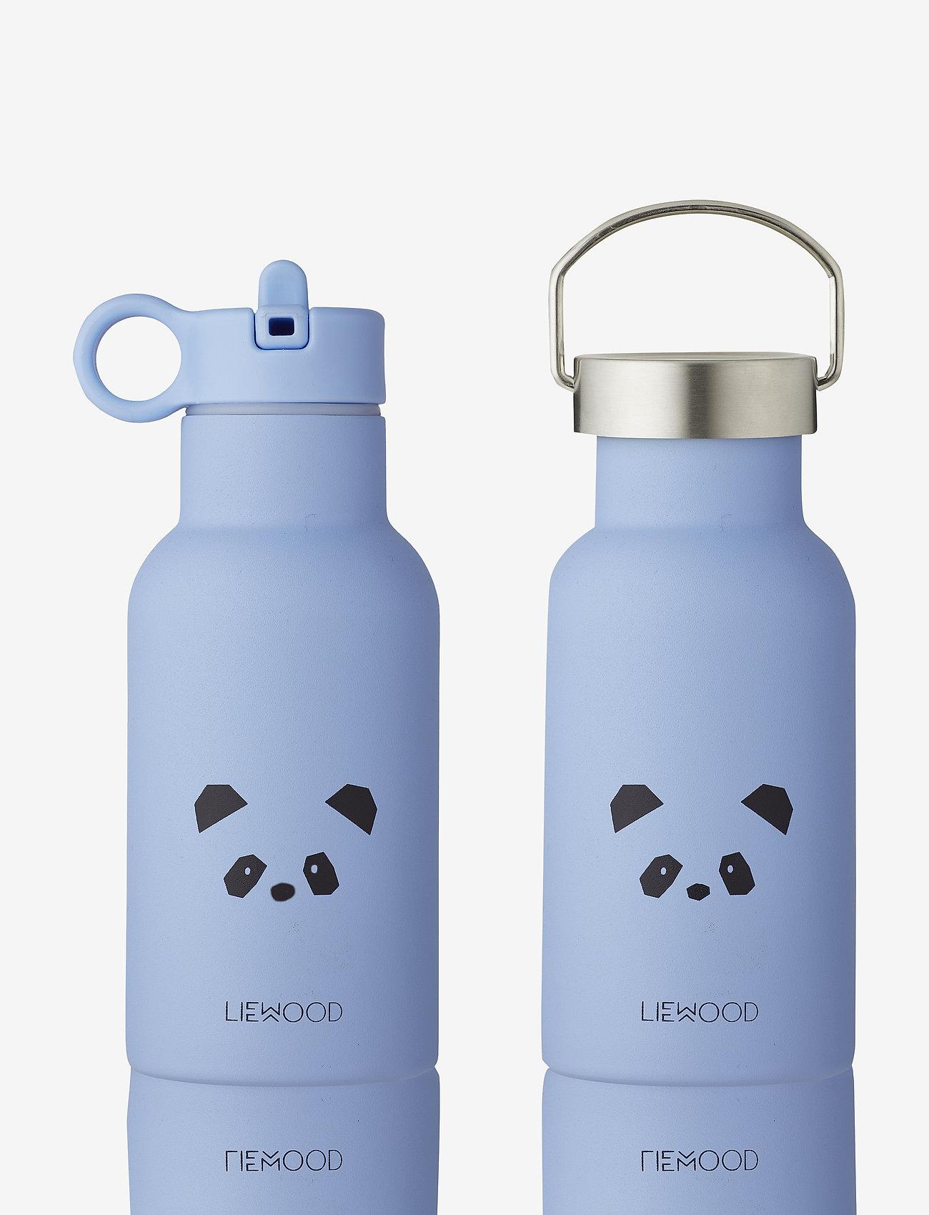Liewood - Anker water bottle - vannflasker - panda sky blue - 0