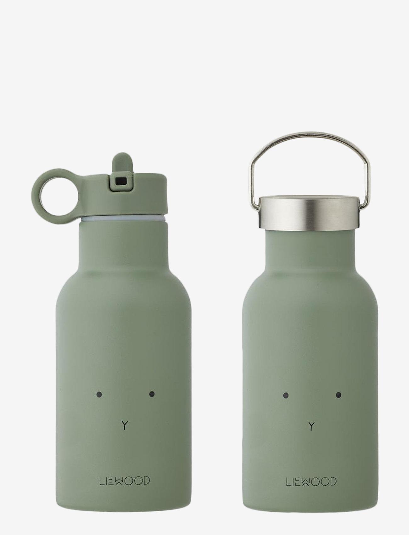 Liewood - Anker water bottle - vannflasker - rabbit faune green - 0