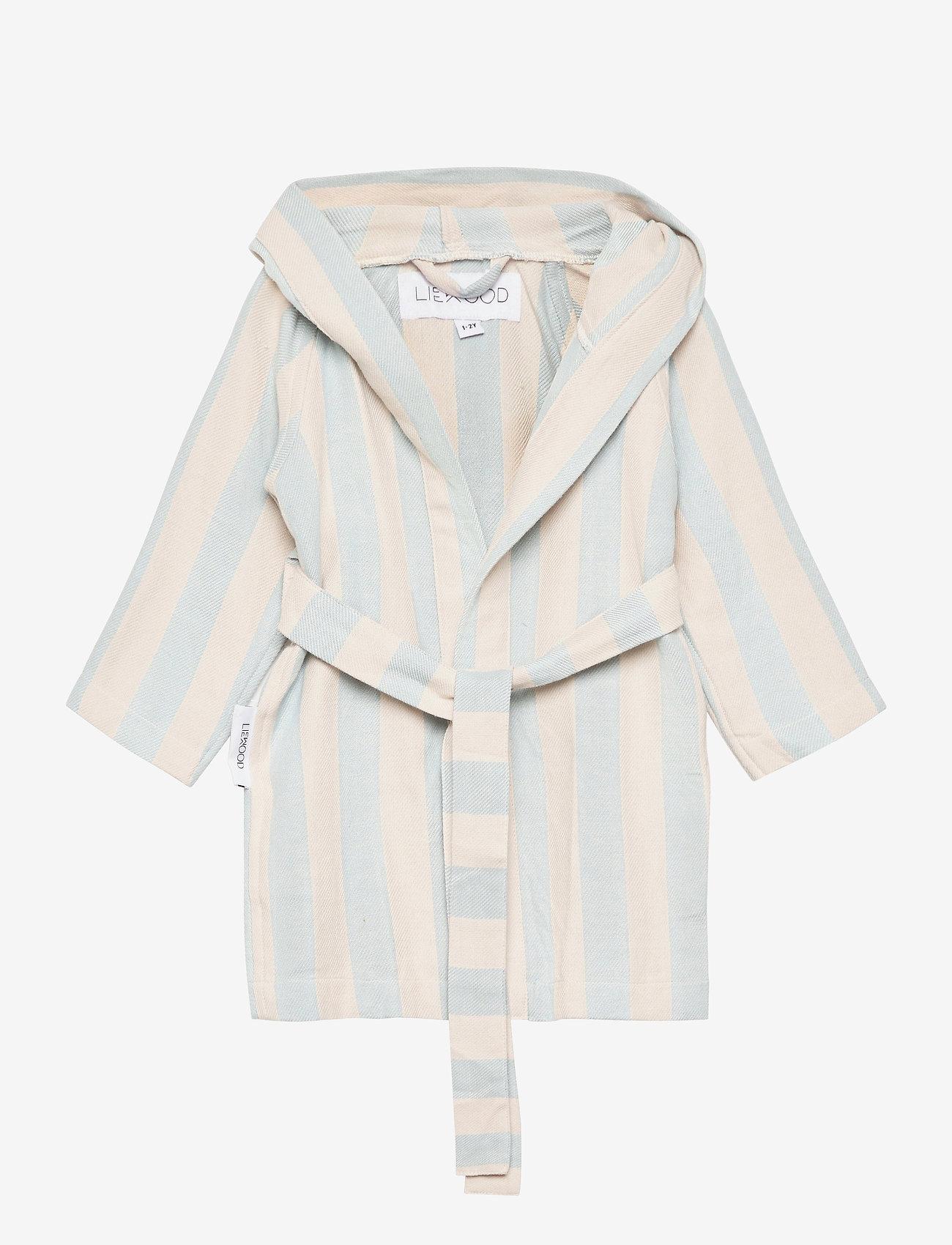 Liewood - Dana bathrobe - bielizna & odzież na noc - y/d stripe - 0