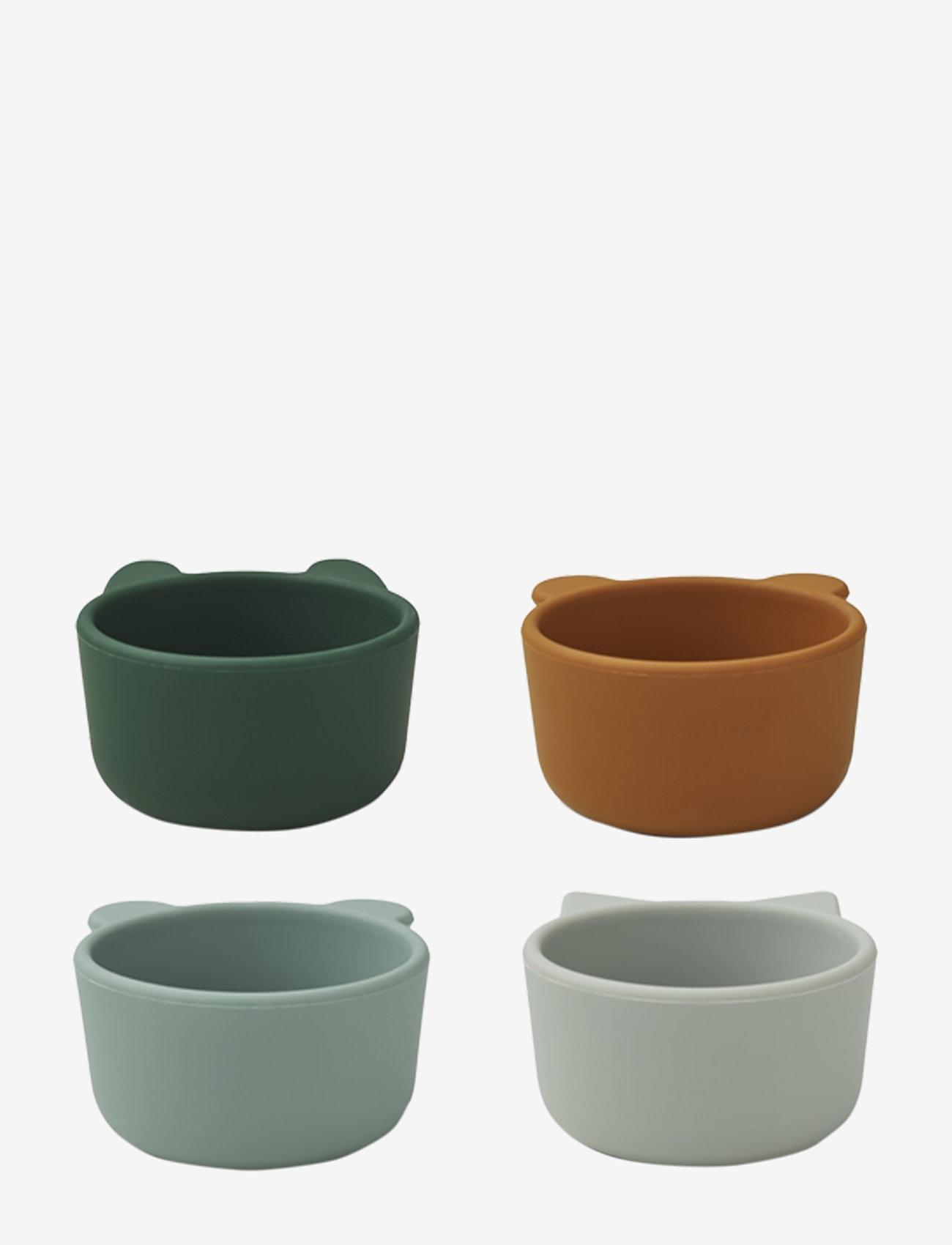 Liewood - Malene silicone bowl - 4 pack - talerze i miski - green multi mix - 1