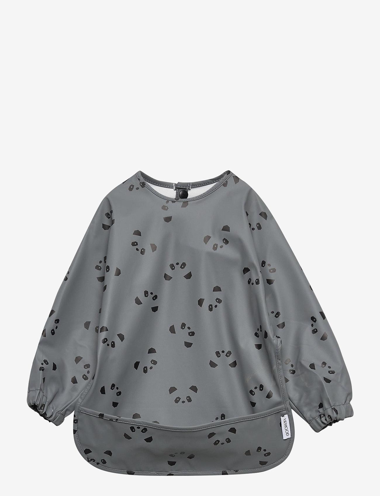 Liewood - Merle cape bib print - 2 pack - Śliniaczek - panda stone grey - 0