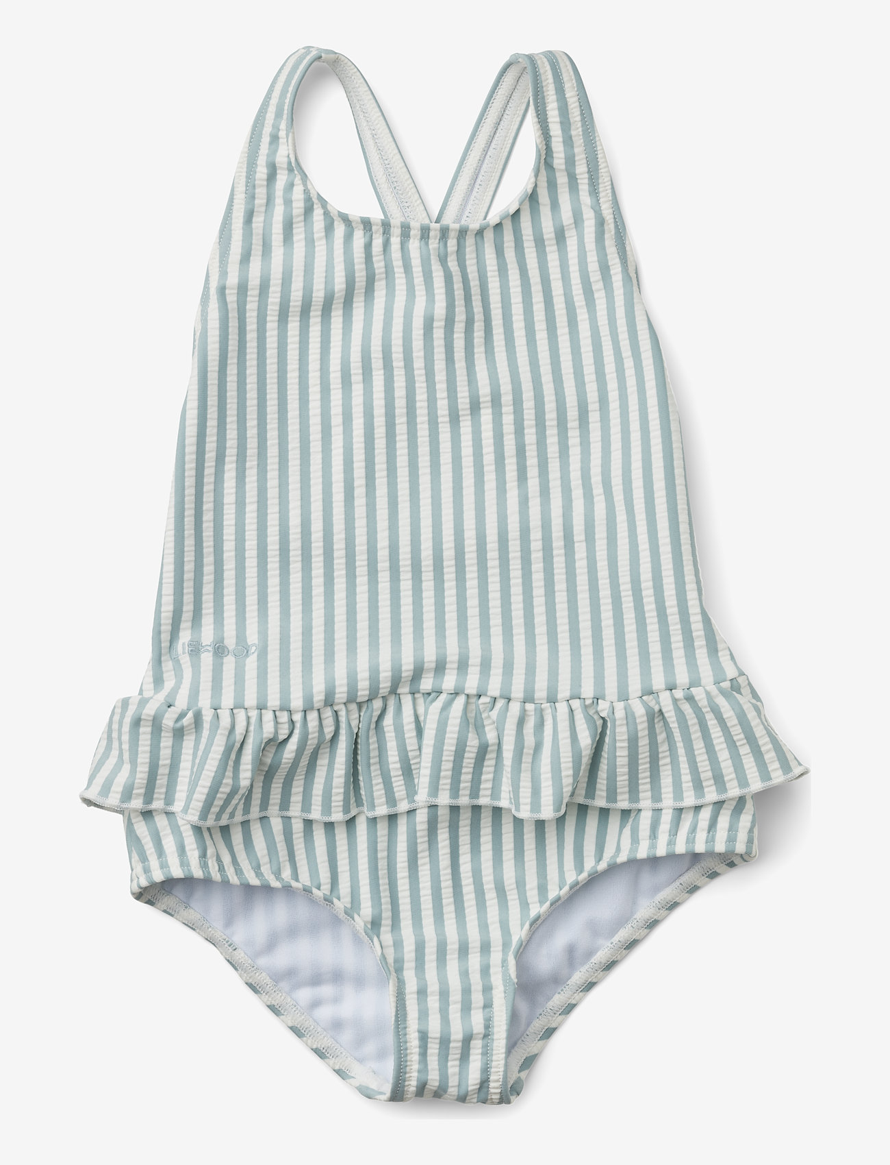 Liewood - Amara swimsuit seersucker - swimsuits - y/d stripe - 0