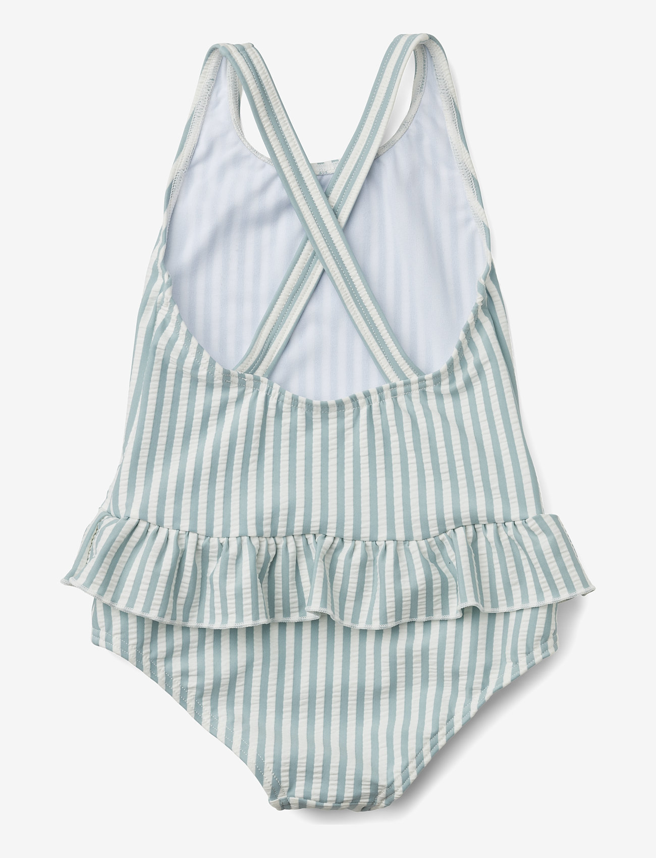 Liewood - Amara swimsuit seersucker - swimsuits - y/d stripe - 1