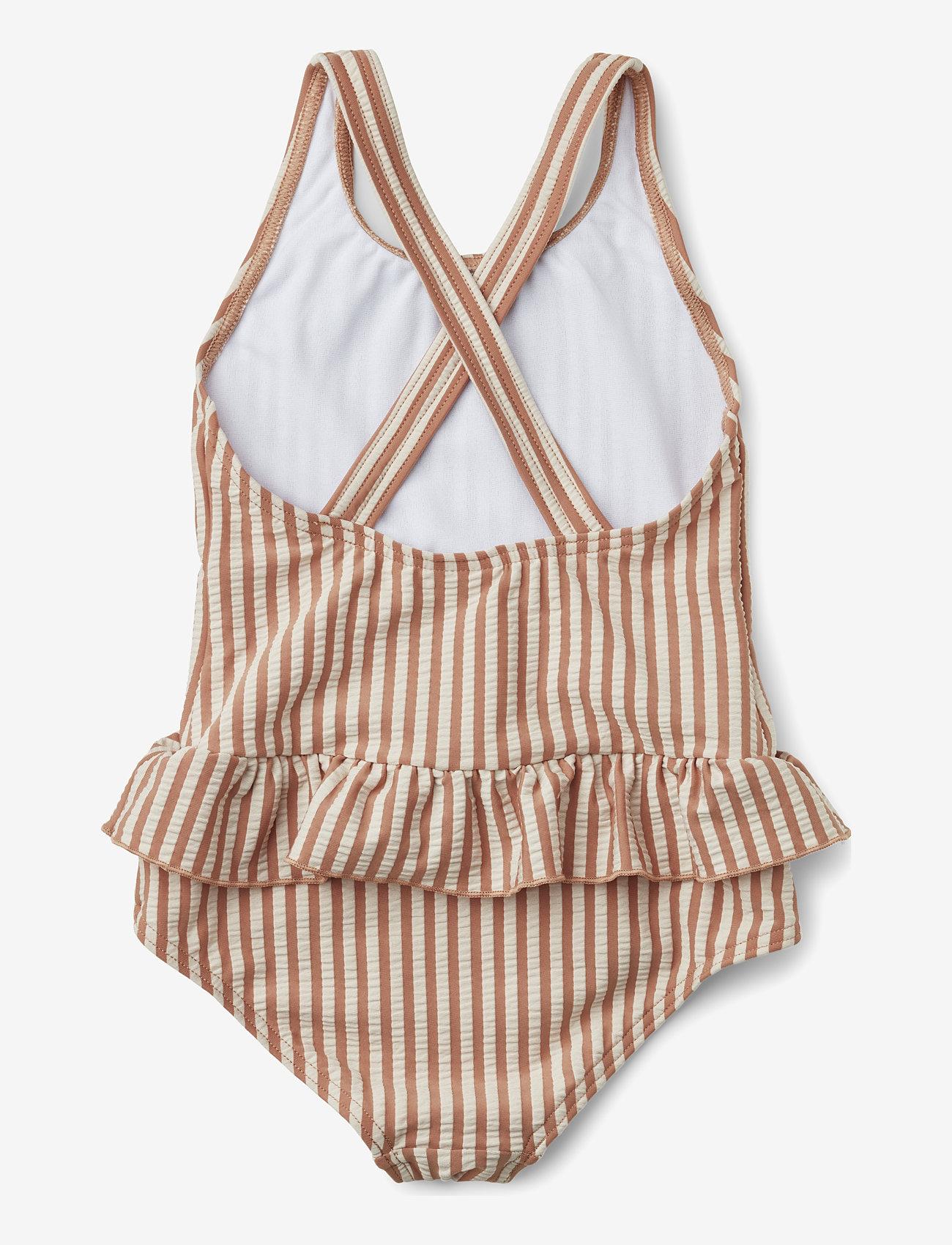 Liewood - Amara swimsuit seersucker - swimsuits - y/d stripe - 1