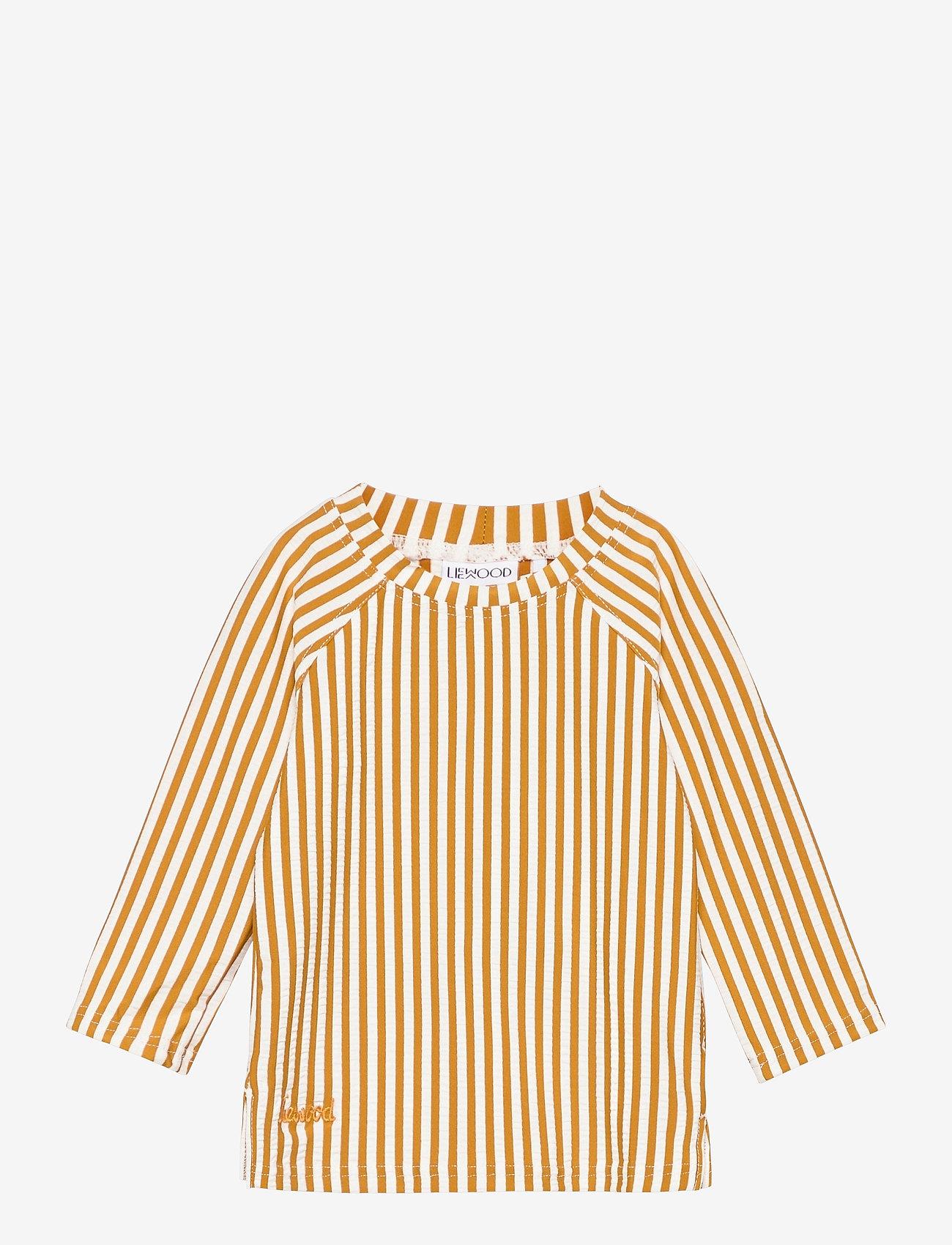 Liewood - Noah swim tee seersucker - uv-clothing - y/d stripe - 0