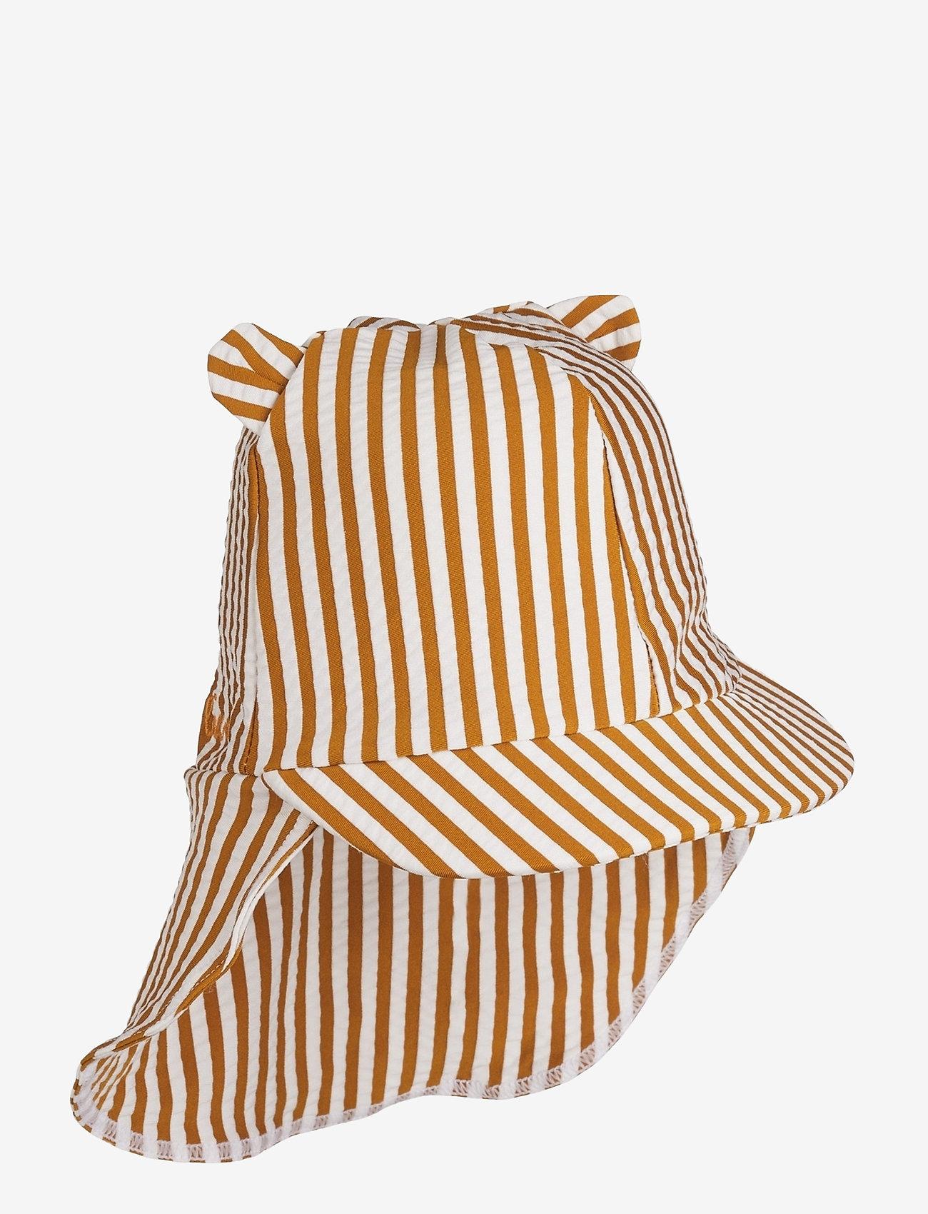 Liewood - Senia sun hat seersucker - huer & kasketter - y/d stripe - 0