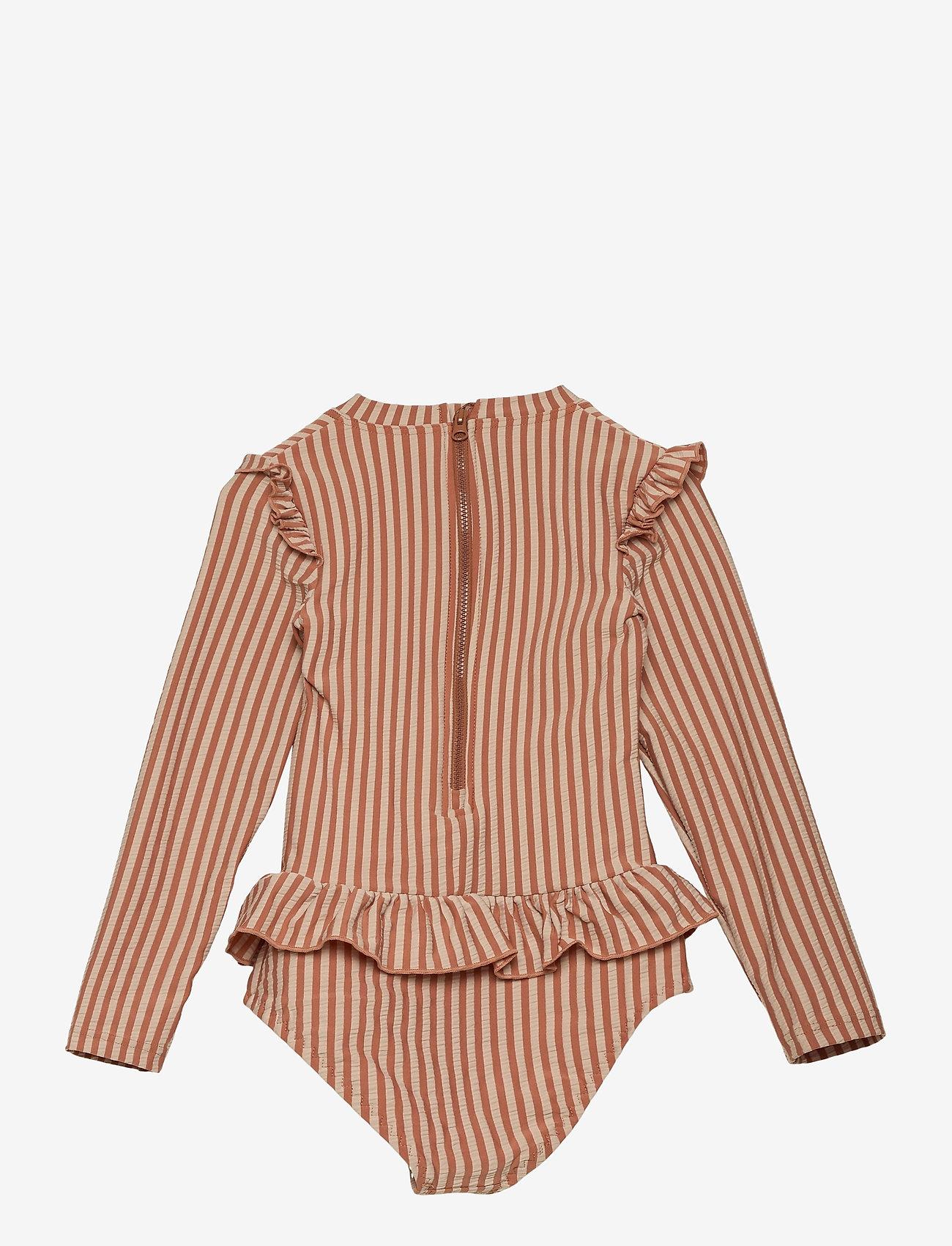 Liewood - Sille swim jumpsuit seersucker - swimsuits - y/d stripe - 1