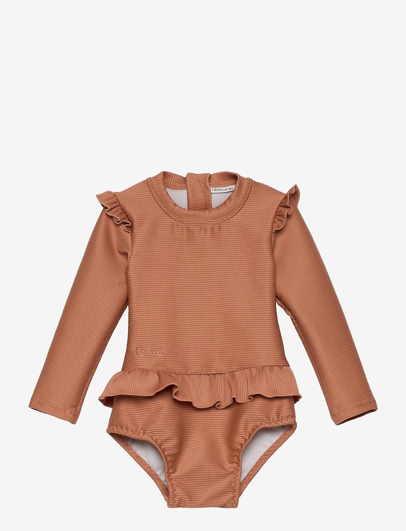 Liewood - Sille swim jumpsuit structure - uv-clothing - tuscany rose - 0