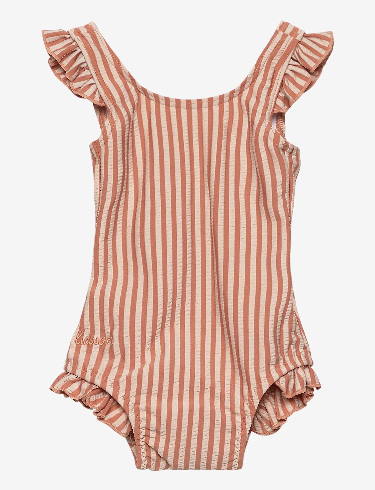 Liewood - Tanna swimsuit seersucker - swimsuits - y/d stripe - 0