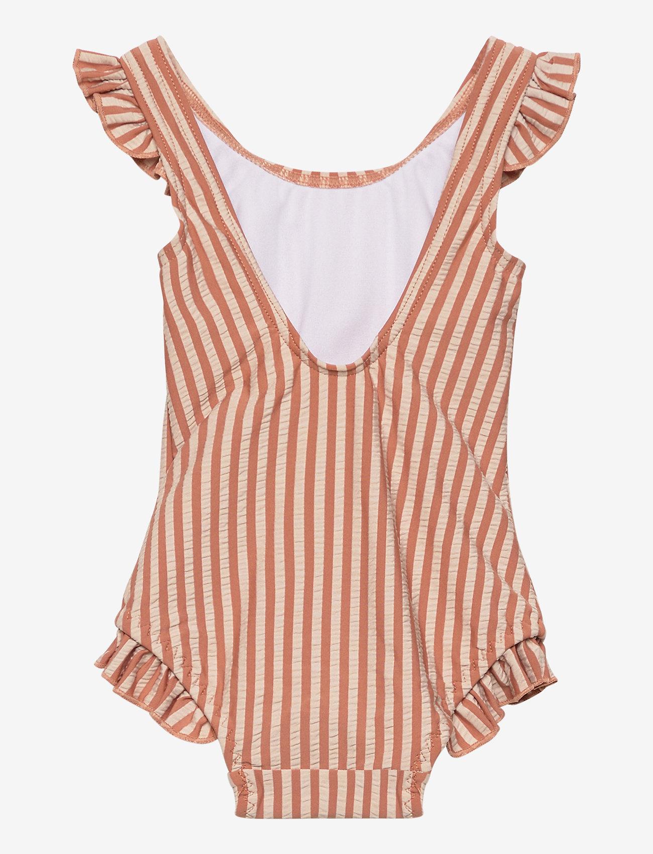 Liewood - Tanna swimsuit seersucker - swimsuits - y/d stripe - 1
