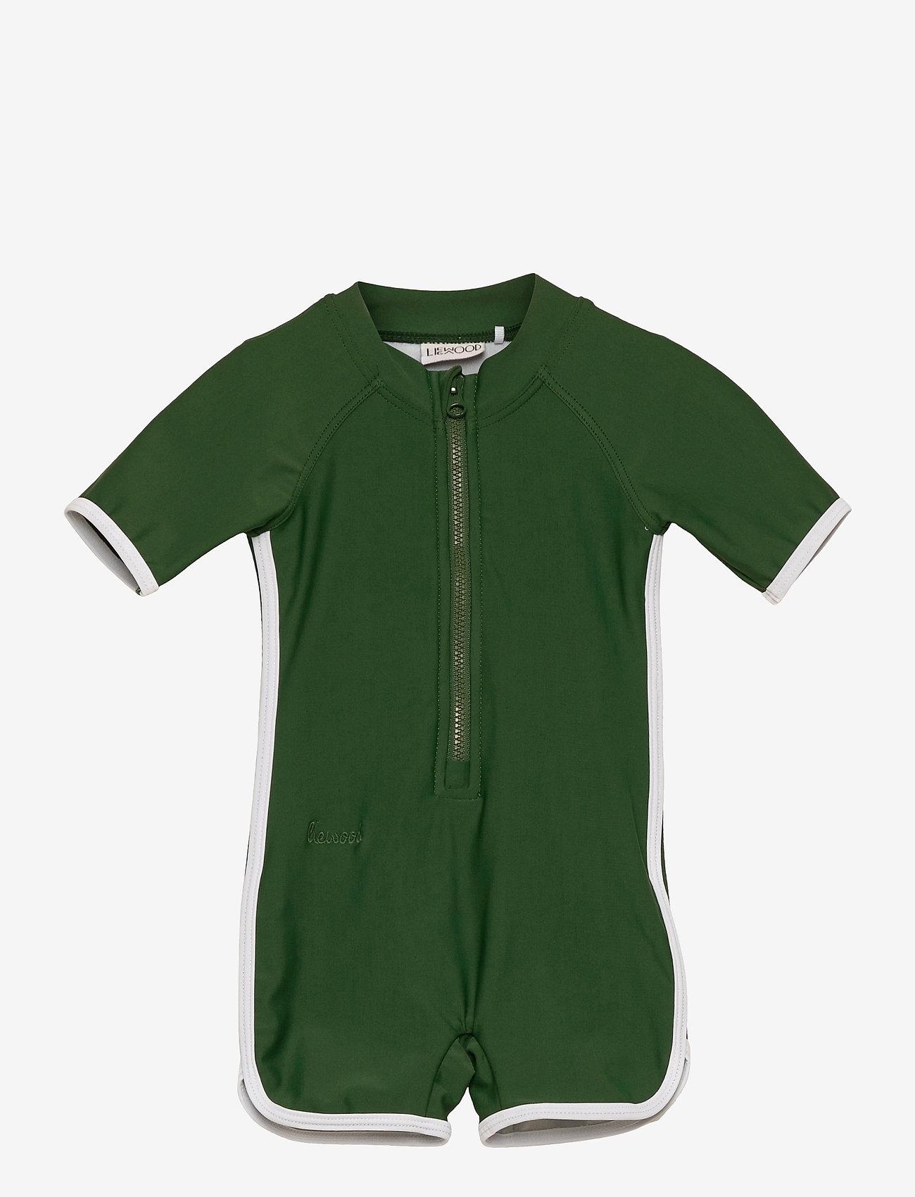 Liewood - Triton swim jumpsuit - swimsuits - garden green - 0