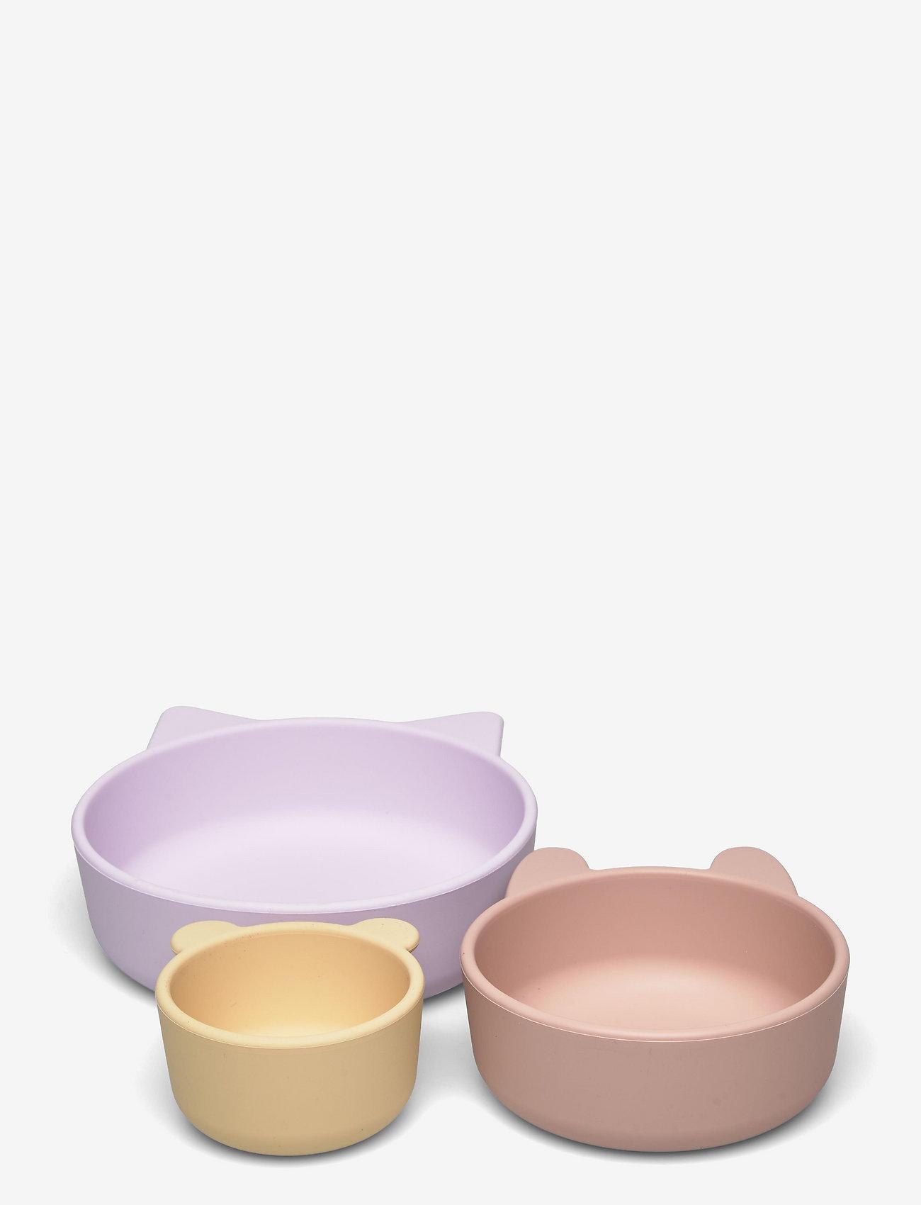 Liewood - Eddie bowls 3-pack - assiettes et bols - light lavender multi mix - 0
