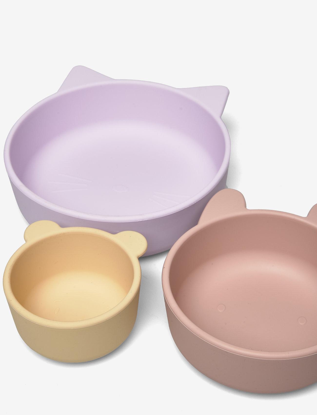 Liewood - Eddie bowls 3-pack - assiettes et bols - light lavender multi mix - 1