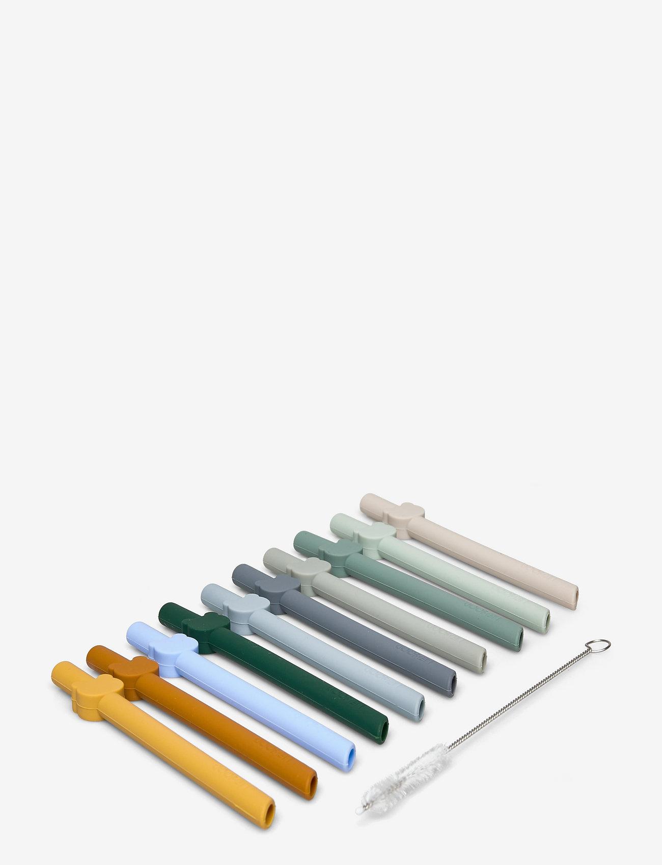 Liewood - Badu straw 10-pack - accessoires pour bouteille d'eau - blue wave multi mix - 0
